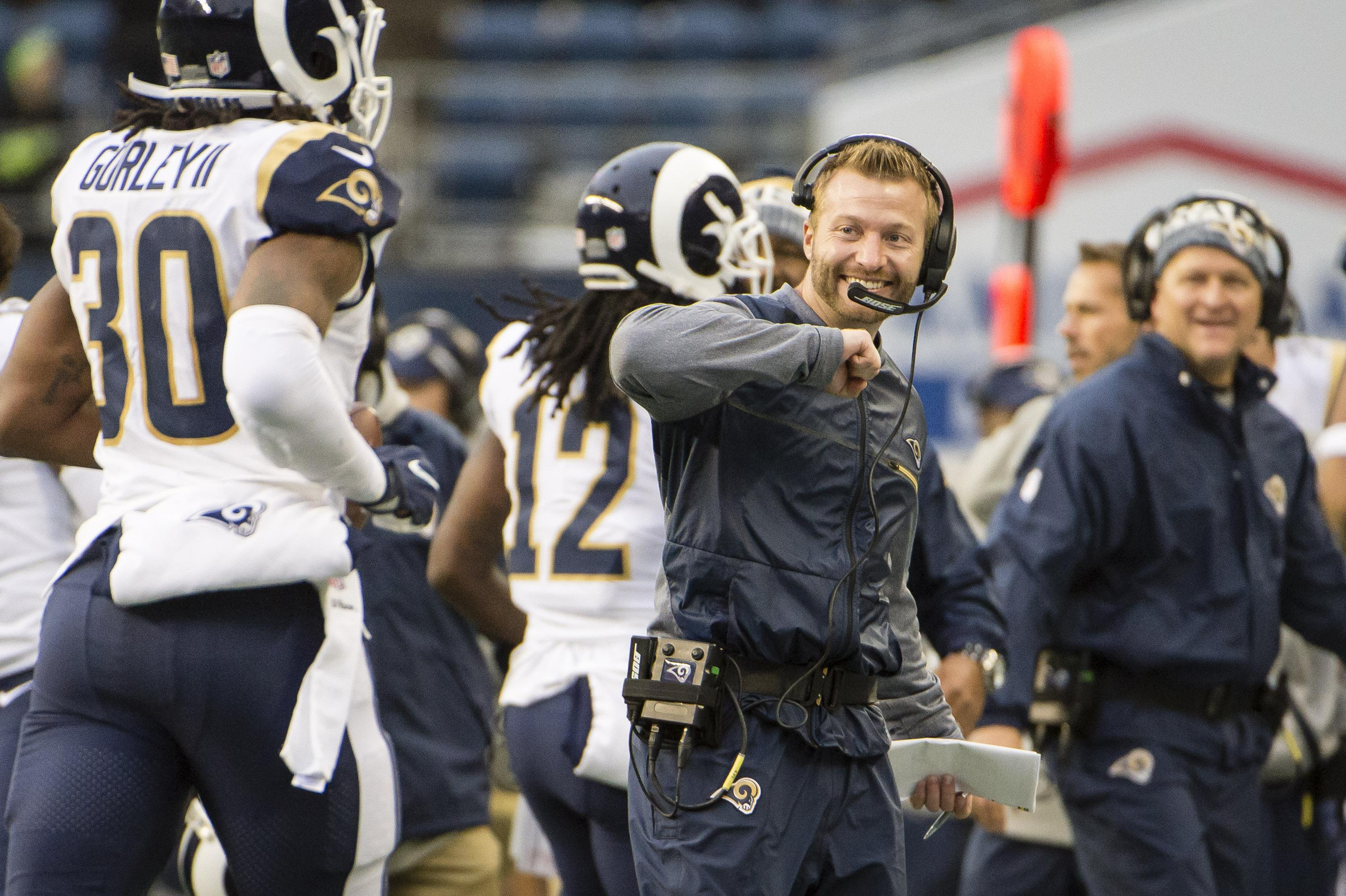 Sean McVay has brought the Rams offence alive since being appointed head coach last year