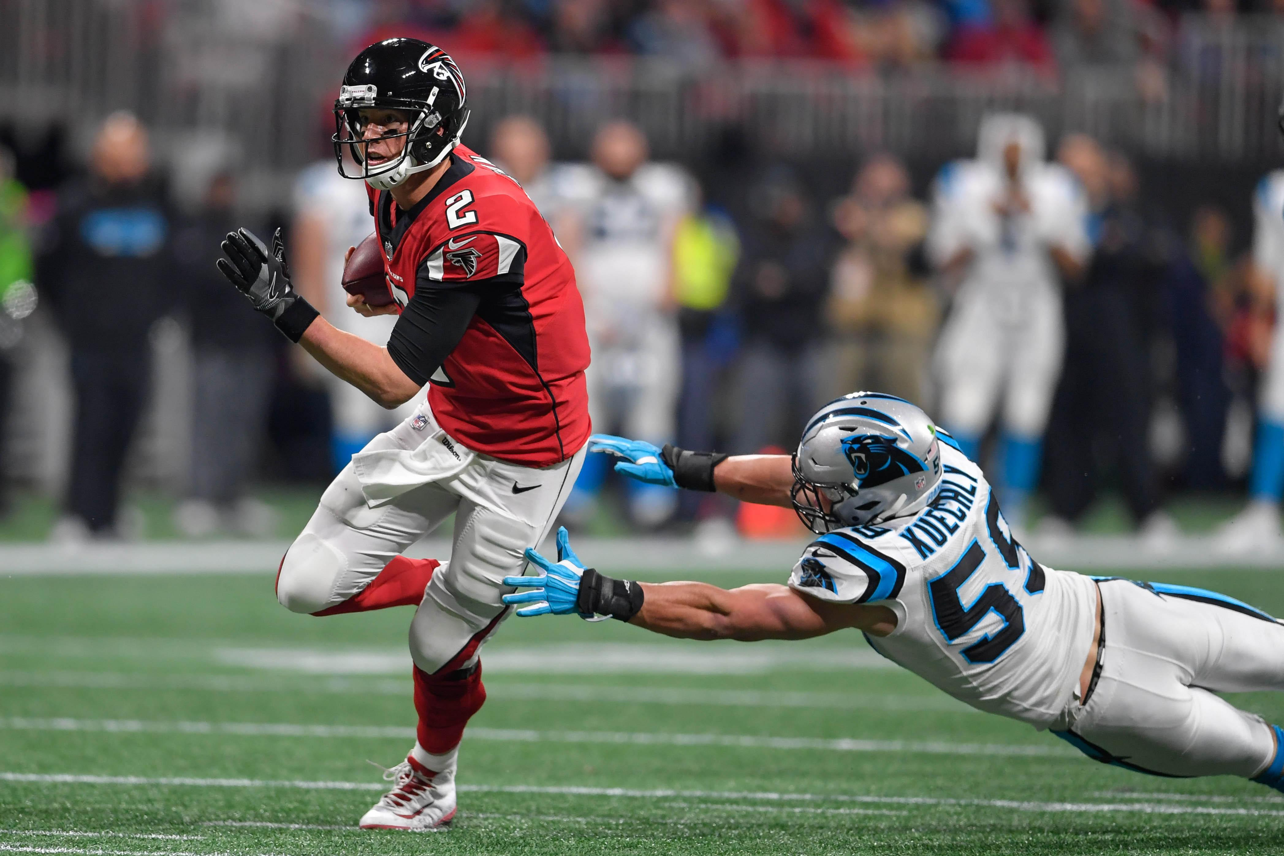 Atlanta beat Carolina in week 17 to secure the final Wild Card spot in the NFC play-offs