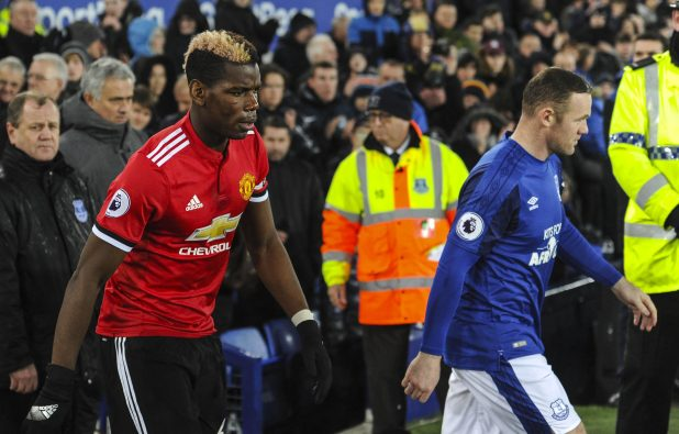 nintchdbpict000375716329 e1514882447438 - Wayne Rooney ignored Paul Pogba in the tunnel before Manchester United's win at Everton