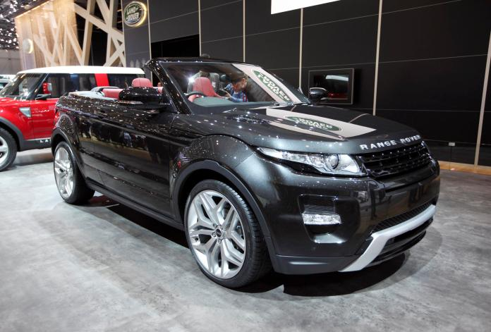 Range Rover Evoque at a driving experience day