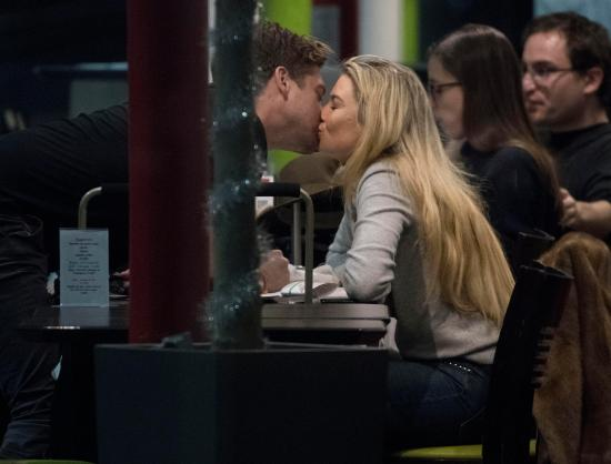 Toff and Charles enjoy snog at the airport