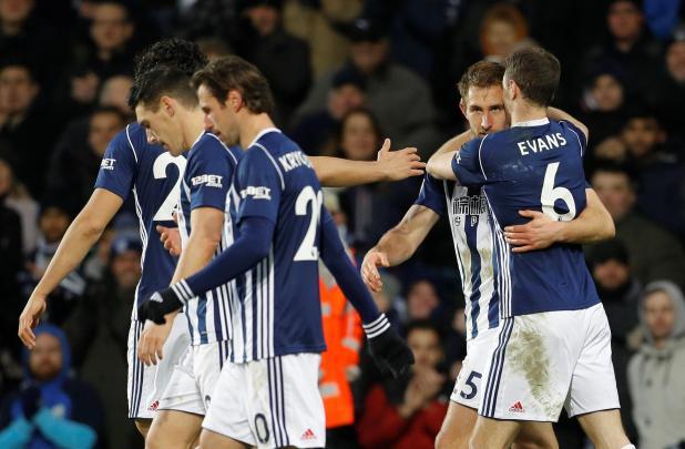 nintchdbpict000377972630 - West Brom 2 Brighton zero: Watch highlights as Jonny Evans and Craig Dawson net to end 20-match winless run and get Alan Pardew's first Premier League win