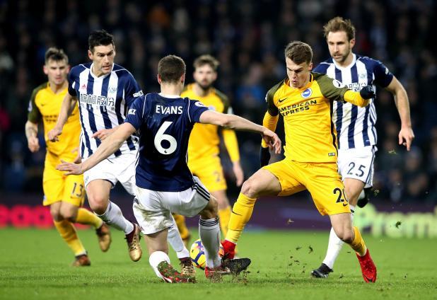nintchdbpict000377975506 - West Brom 2 Brighton zero: Watch highlights as Jonny Evans and Craig Dawson net to end 20-match winless run and get Alan Pardew's first Premier League win