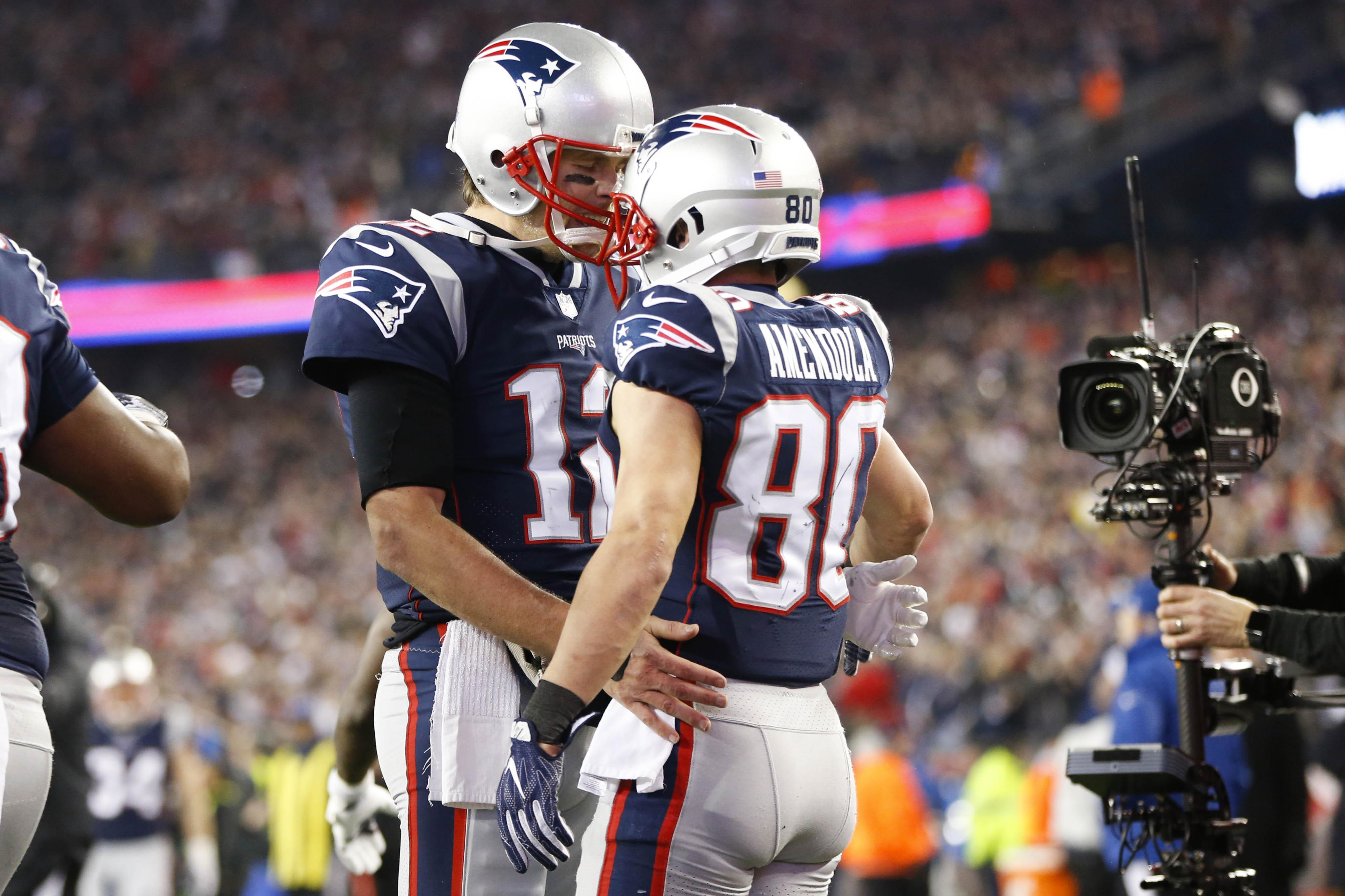 Tom Brady turned to Danny Amendola when he lost his leading receiver Rob Gronkowski