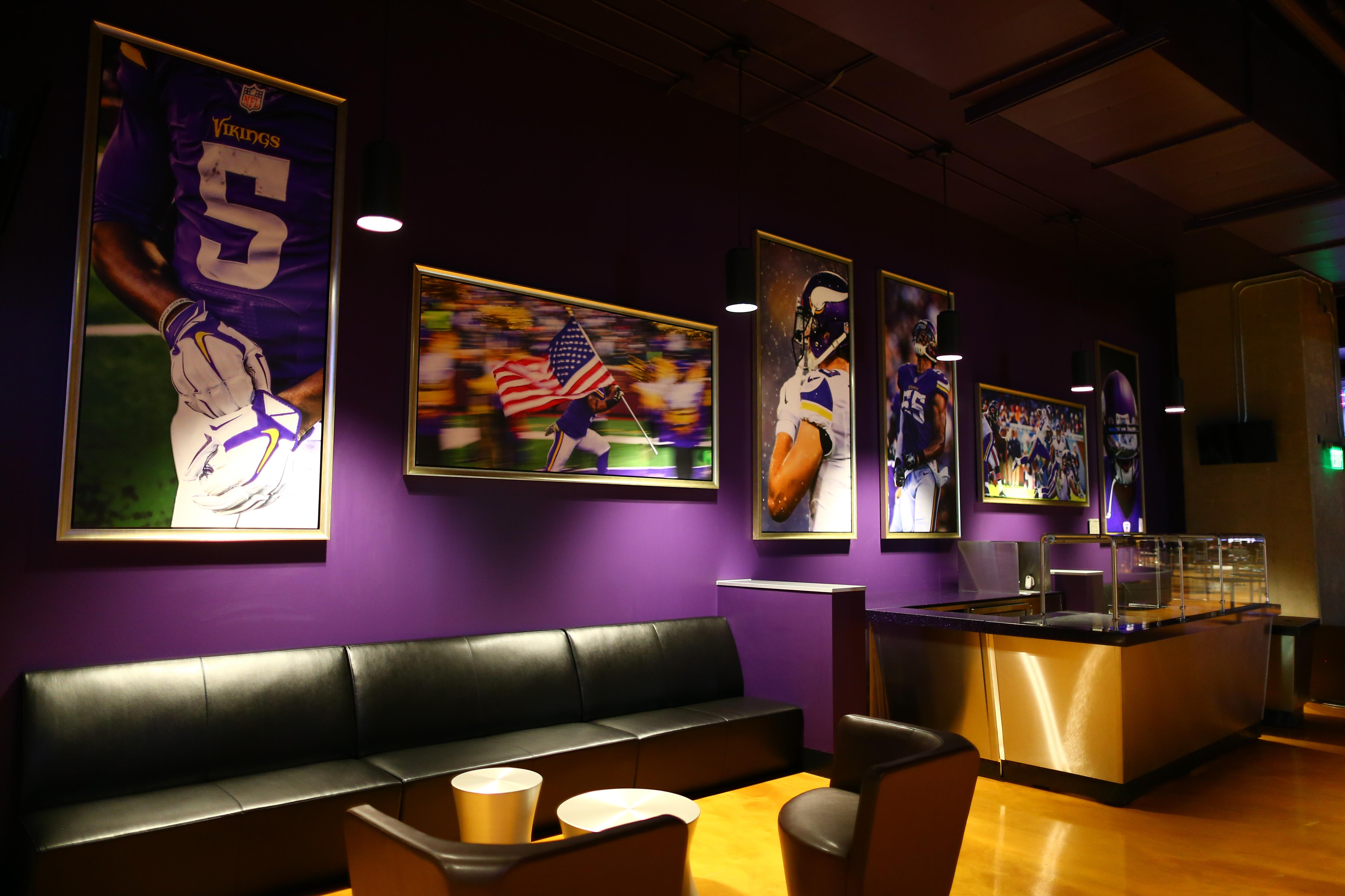US Bank Stadium has 9,300 club seats in six different lounges
