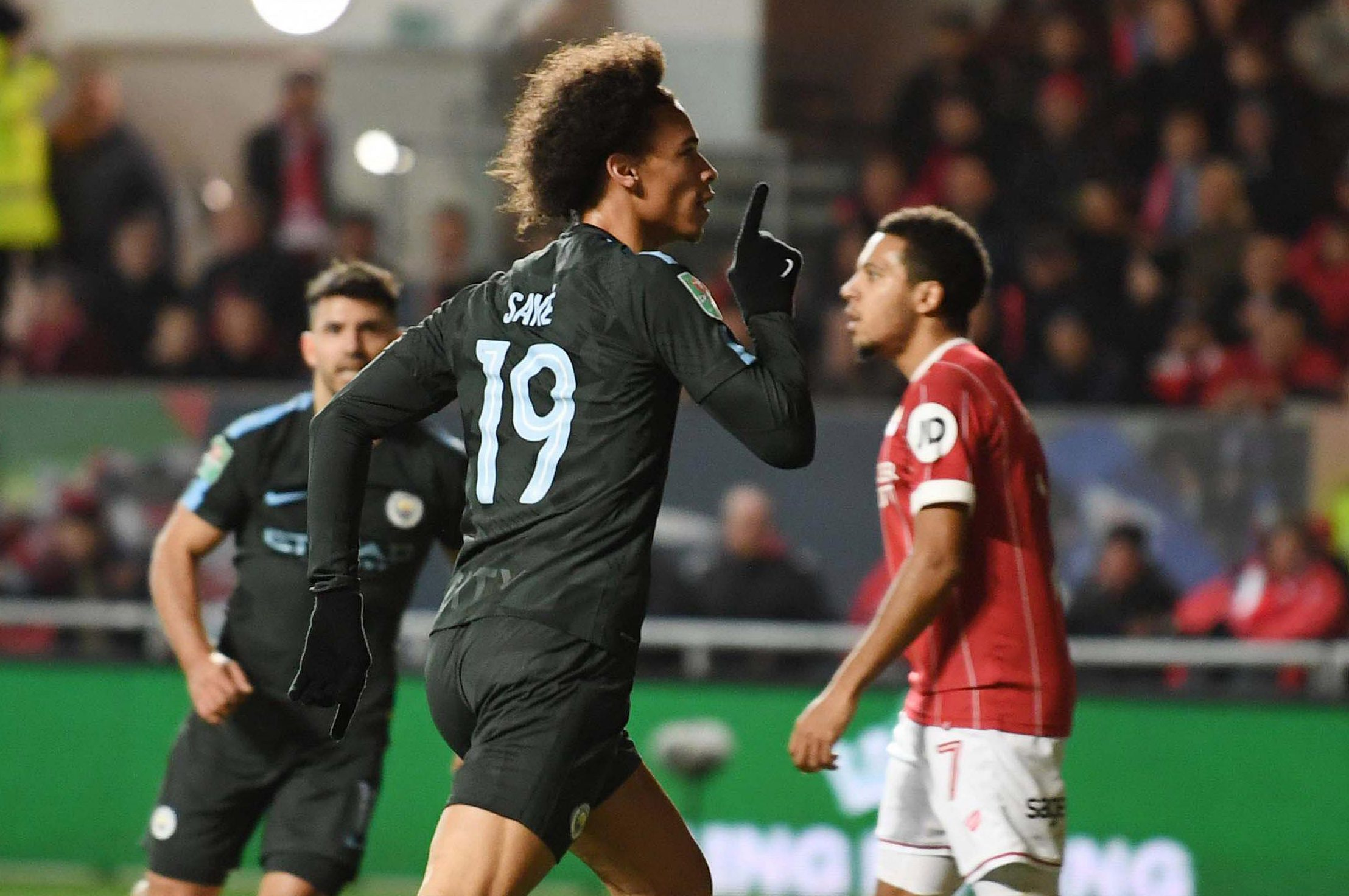 Leroy Sane scored as Man City booked their place in the Carabao Cup final