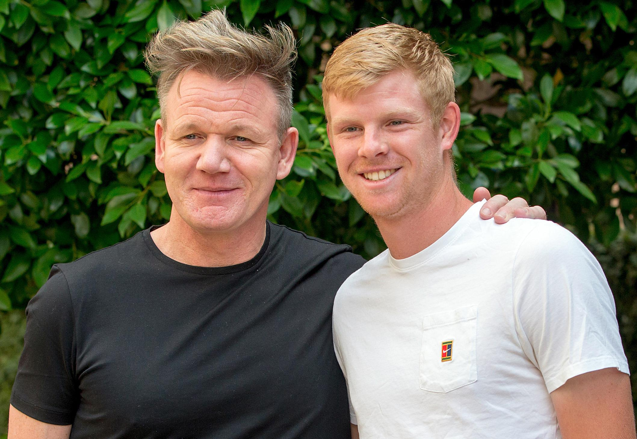 Gordon Ramsay has promised Kyle Edmund a slap-up meal if he makes it past Marin Cilic