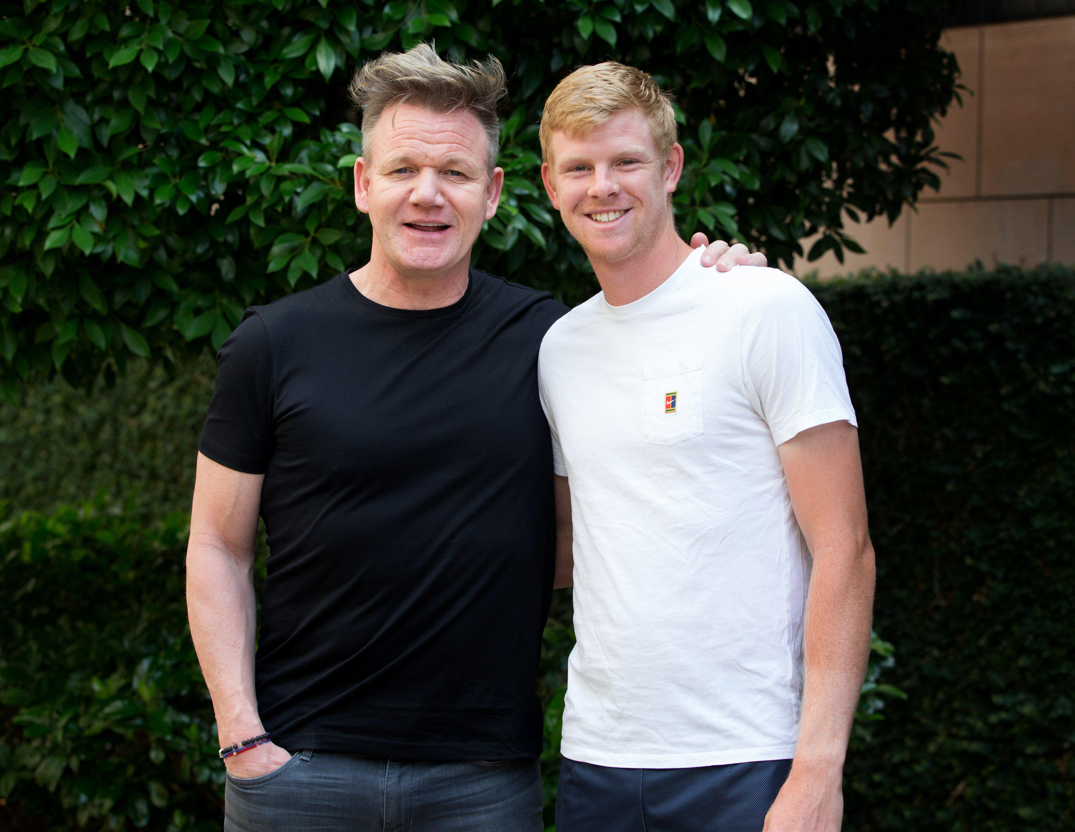 Gordon Ramsay met Kyle Edmund at Australian Open