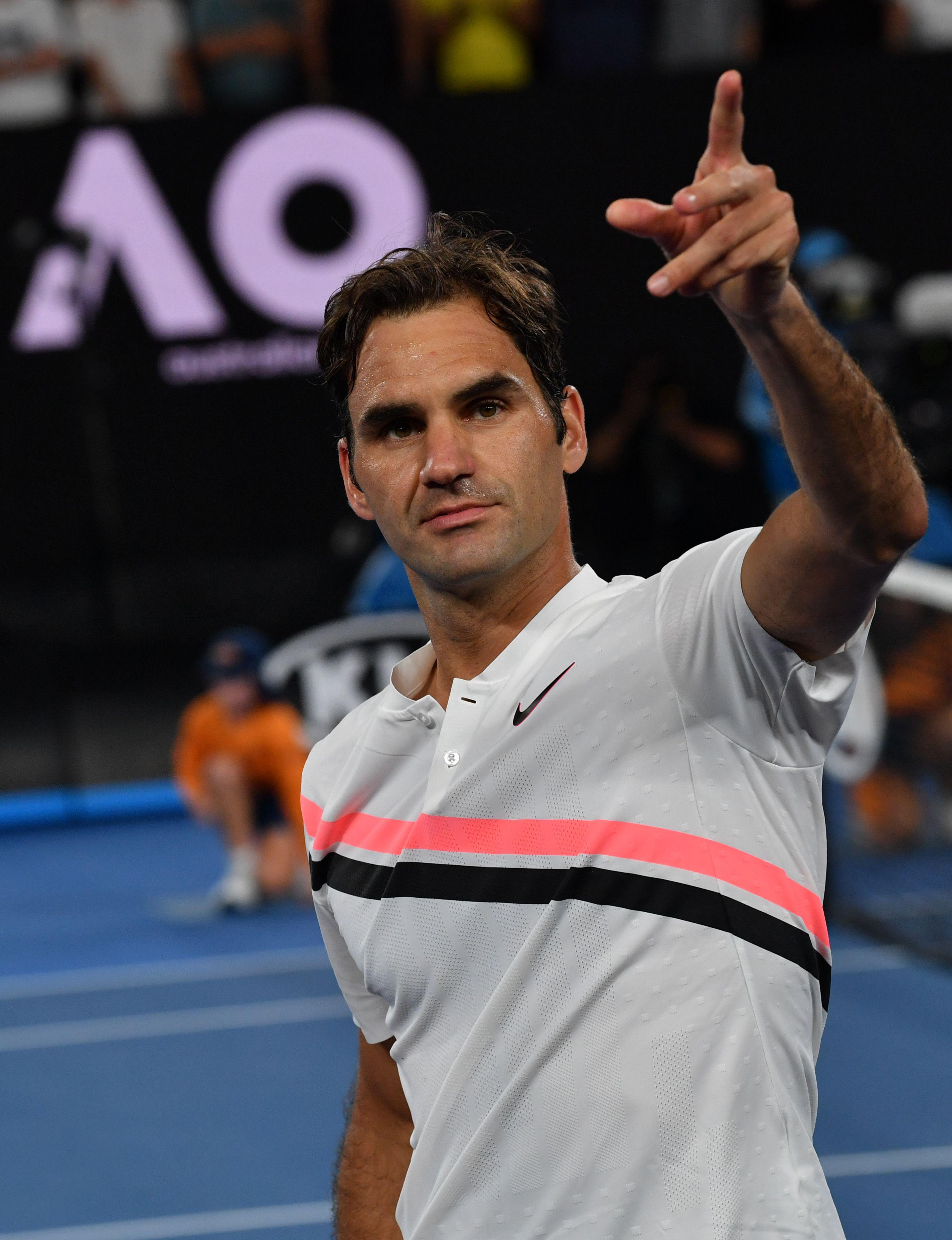 Roger Federer is yet to drop a set at the Australian Open as he surges into the semis