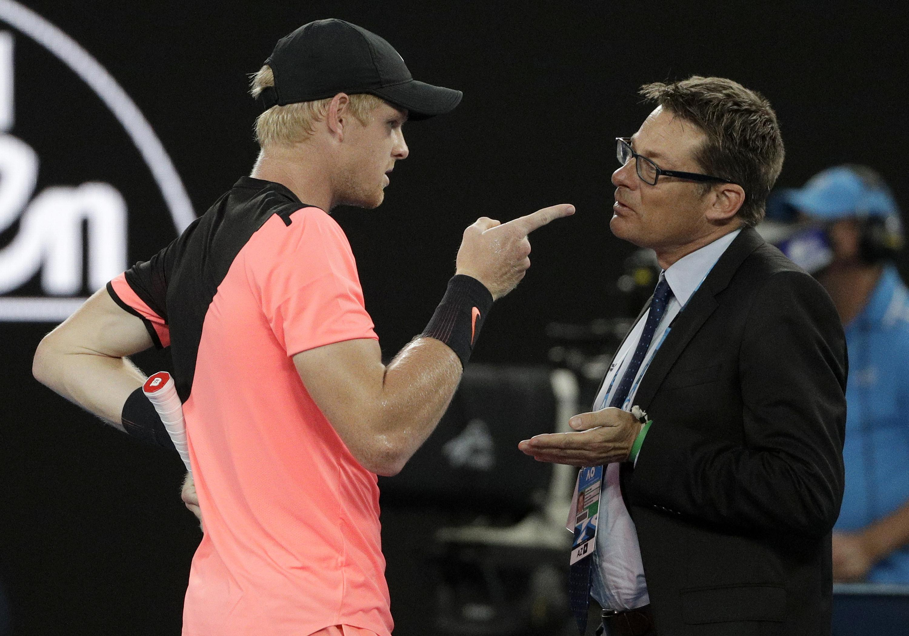 The British star made his feelings known after calling for the match referee to intervene