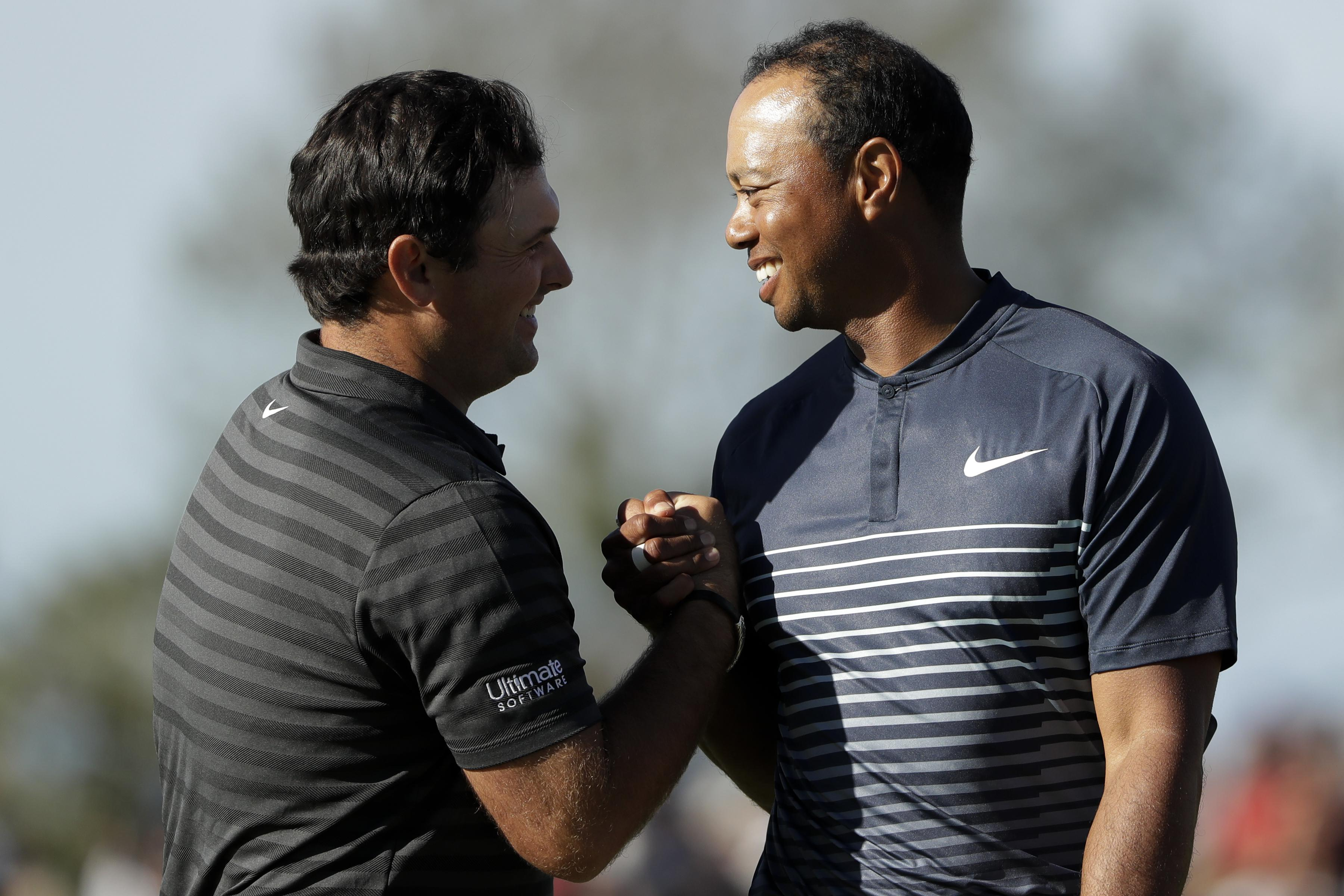 Tiger Woods looked relieved once the round was over and he was through