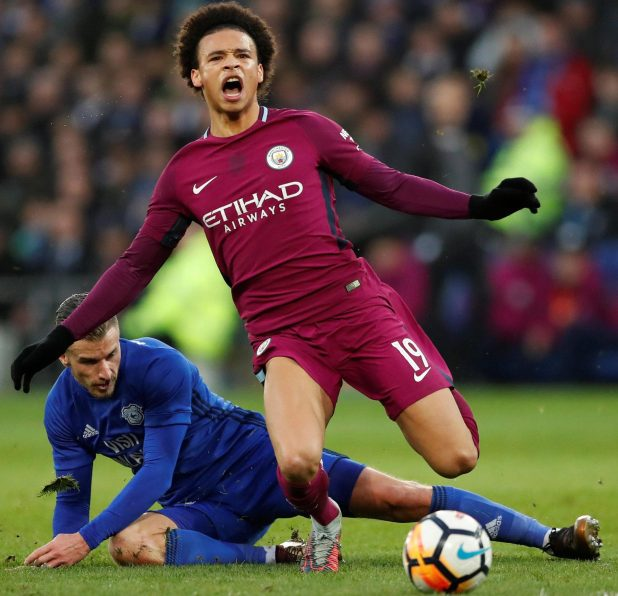 nintchdbpict000381270090 e1517162025747 - Manchester City confirm Leroy Sane suffered ankle ligament damage in horror challenge from Cardiff's Joe Bennett