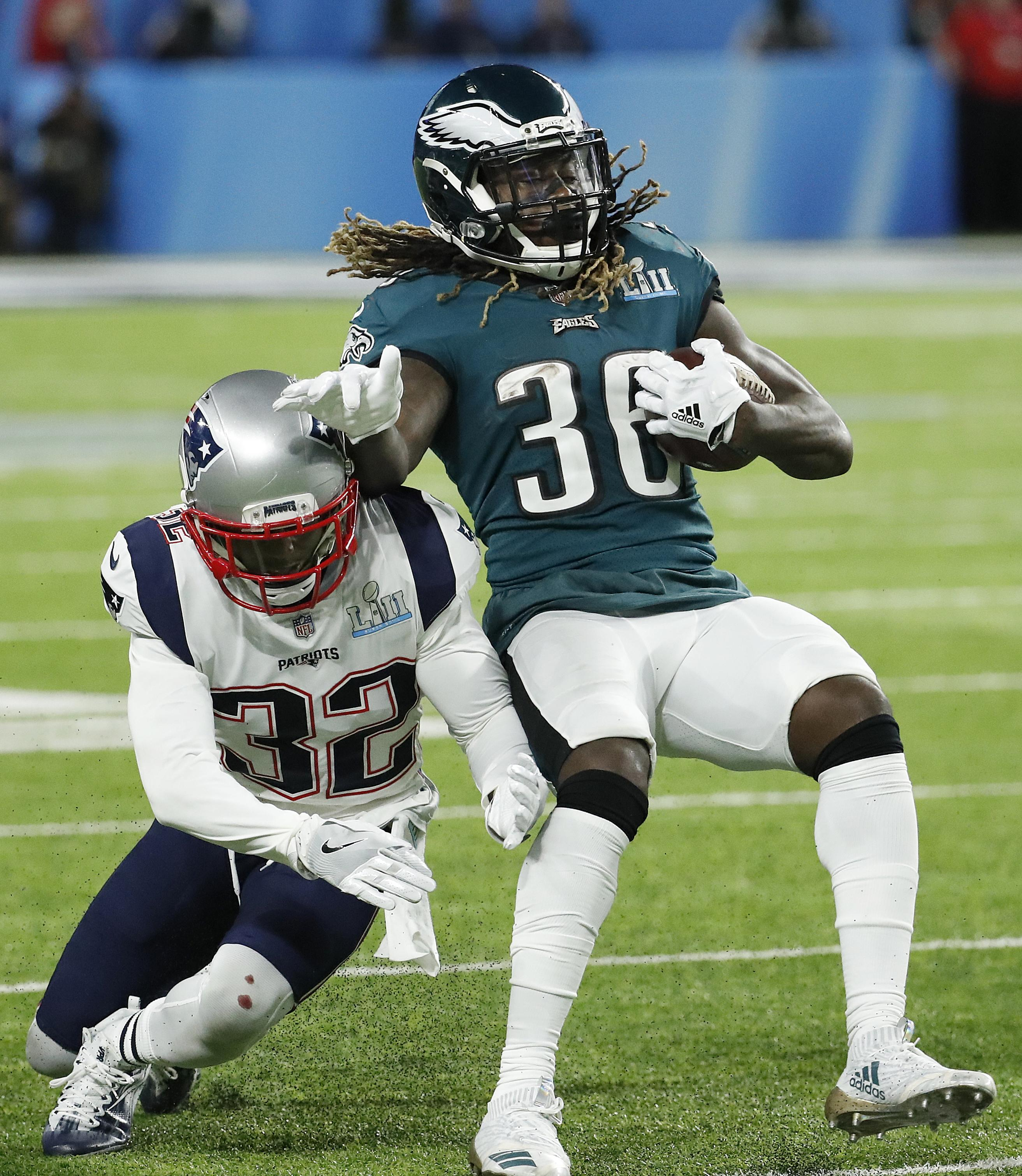 British running back Jay Ajayi in action for the Philadelphia Eagles
