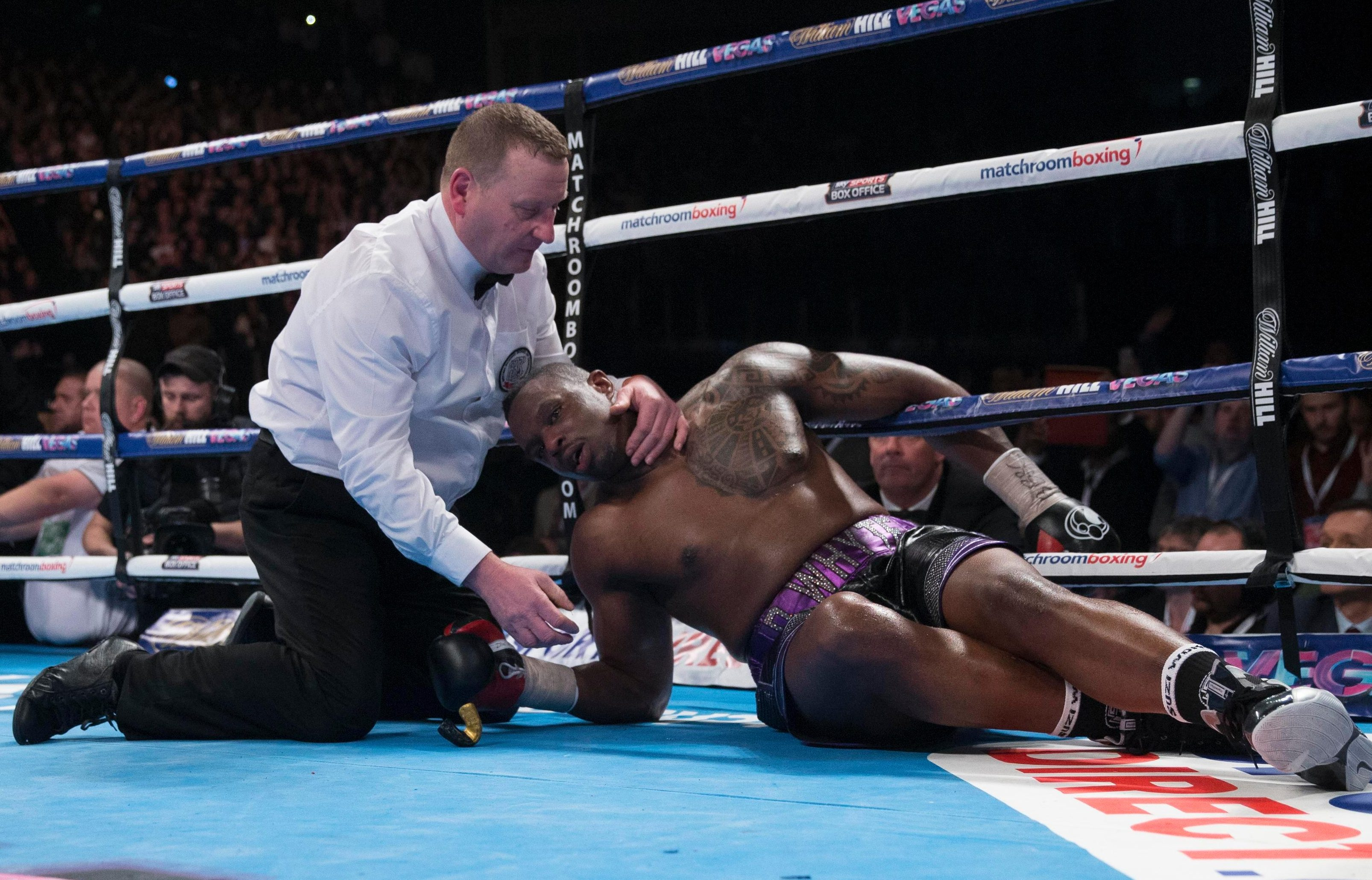 Dillian Whyte was saved by the referee in his scrap against Anthony Joshua - but fancies another crack