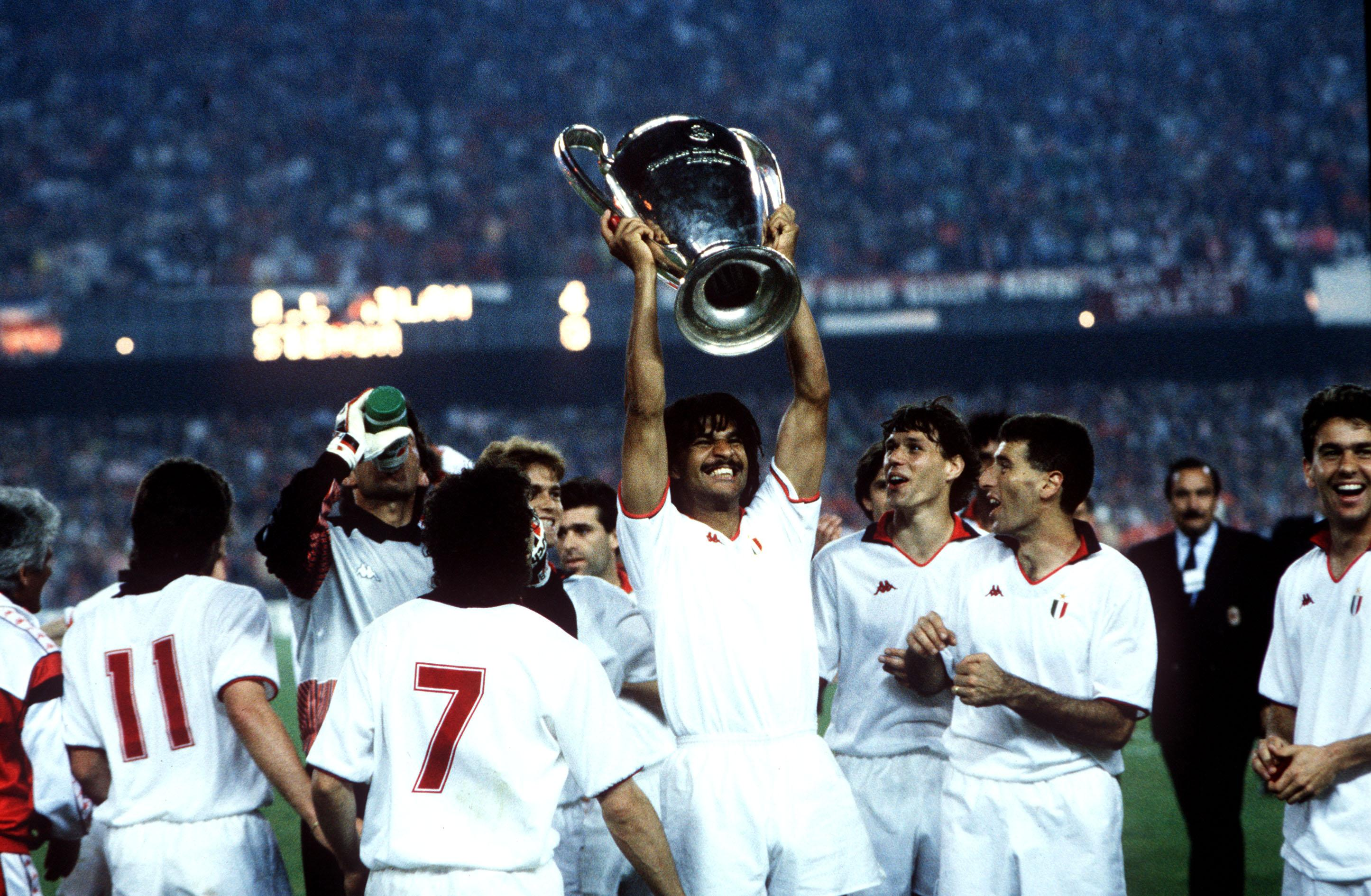 Gullit was a crucial part of the dominant AC Milan side that won three Serie A titles and two European Cups