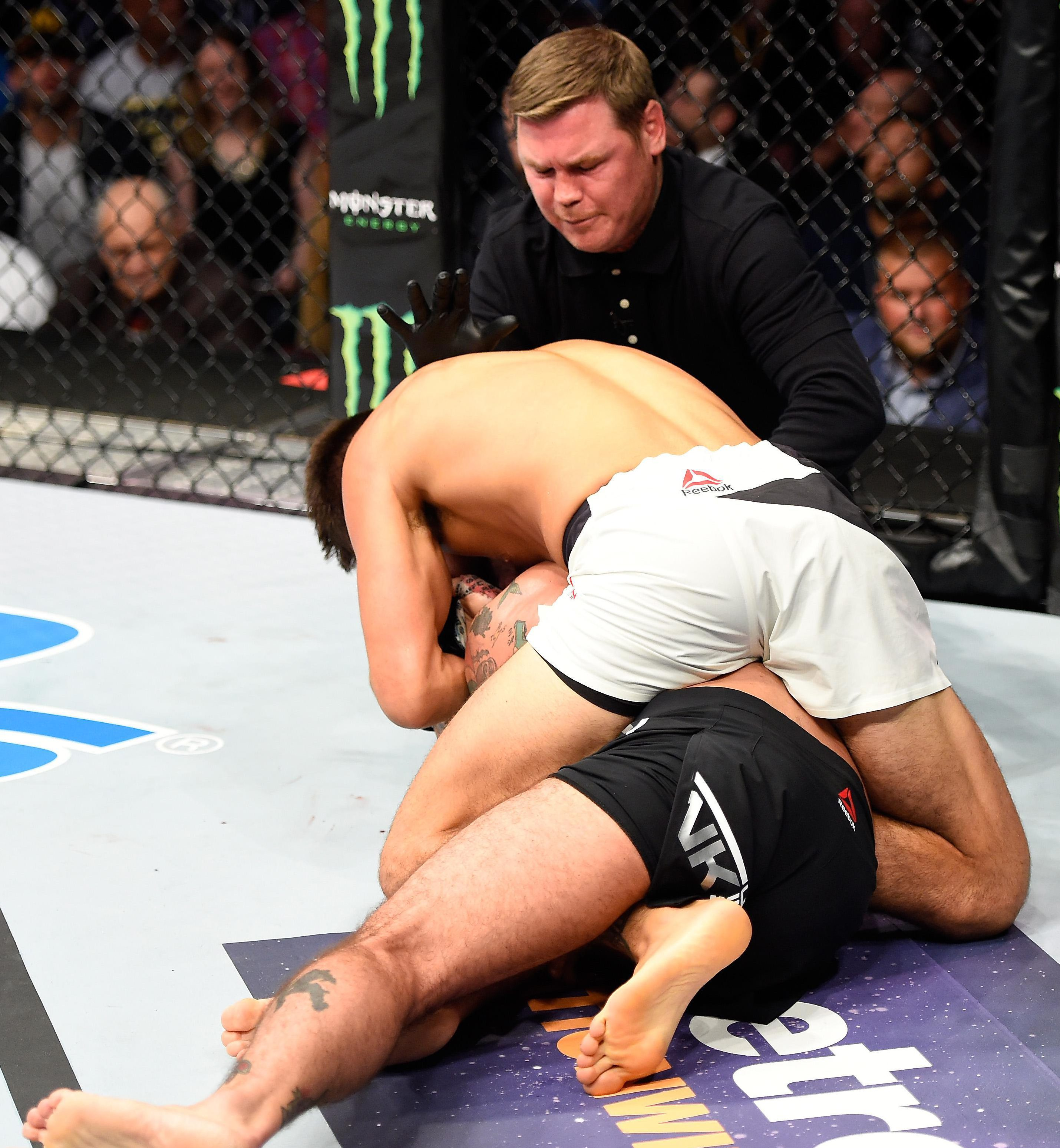 Gall applied a rear naked choke... and that was that