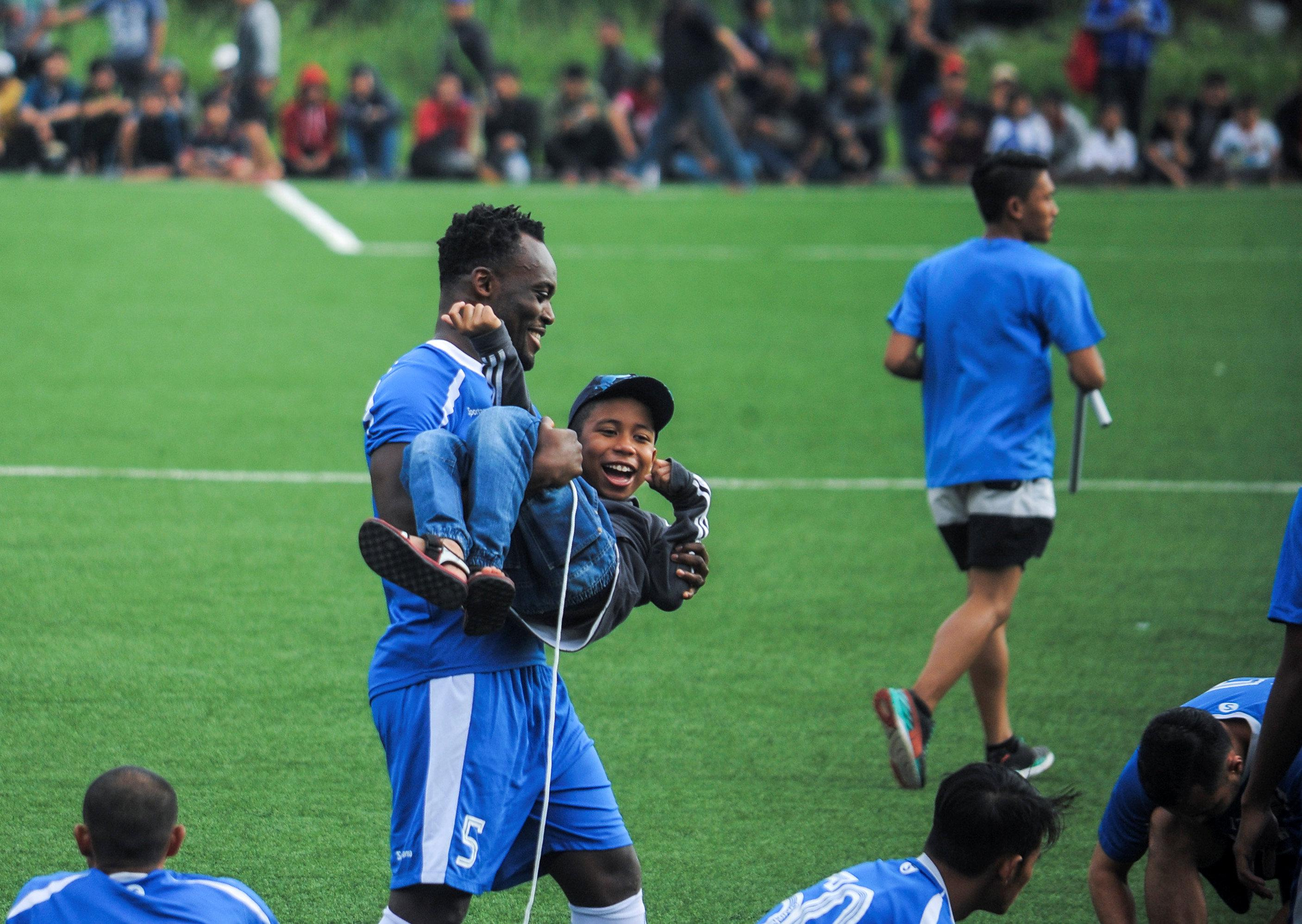 Michael Essien is a massive star in the small Asian league