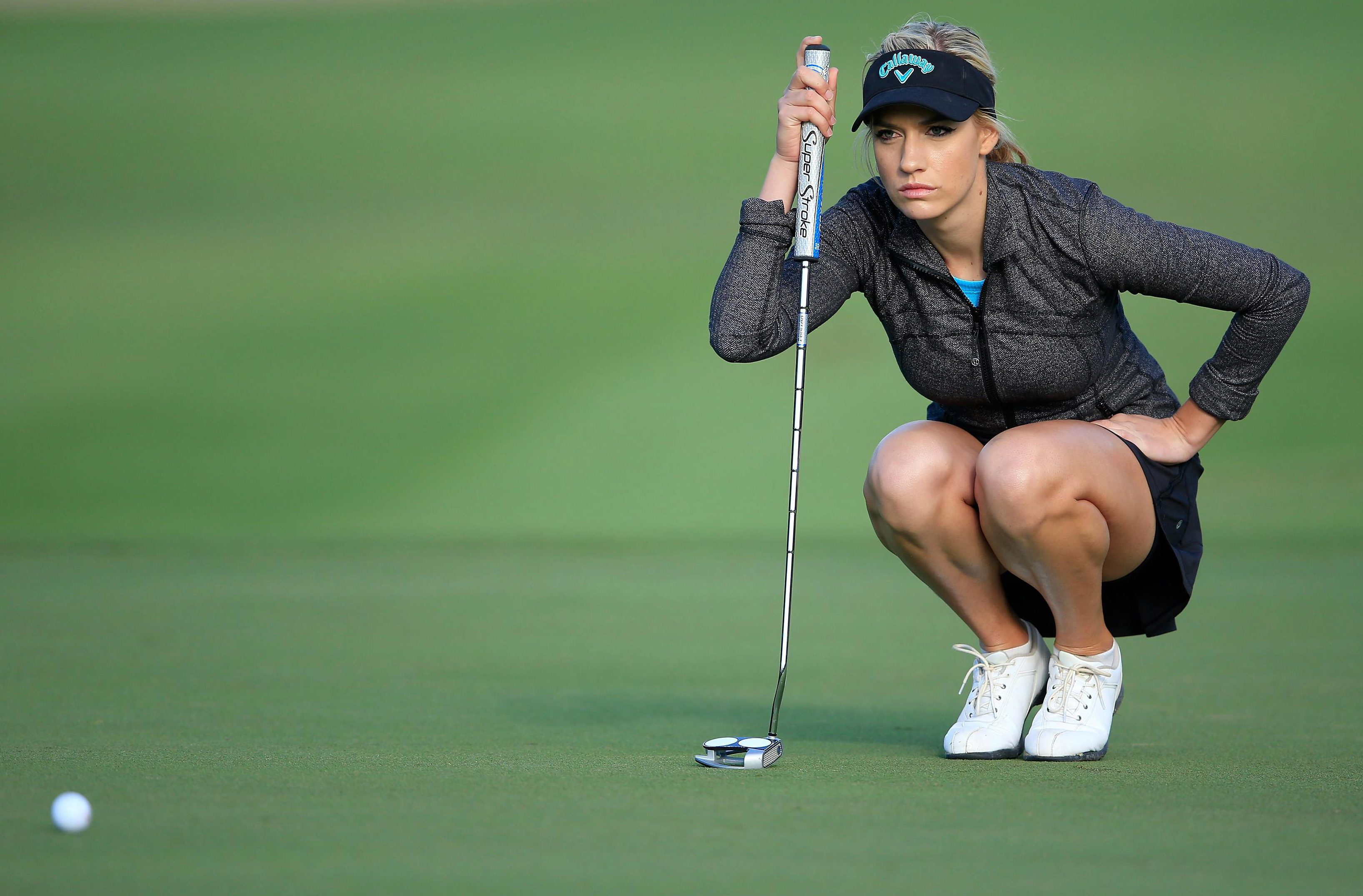 Paige Spiranac has hit back at what she says is unfair treatment in a sport dominated by middle-aged men