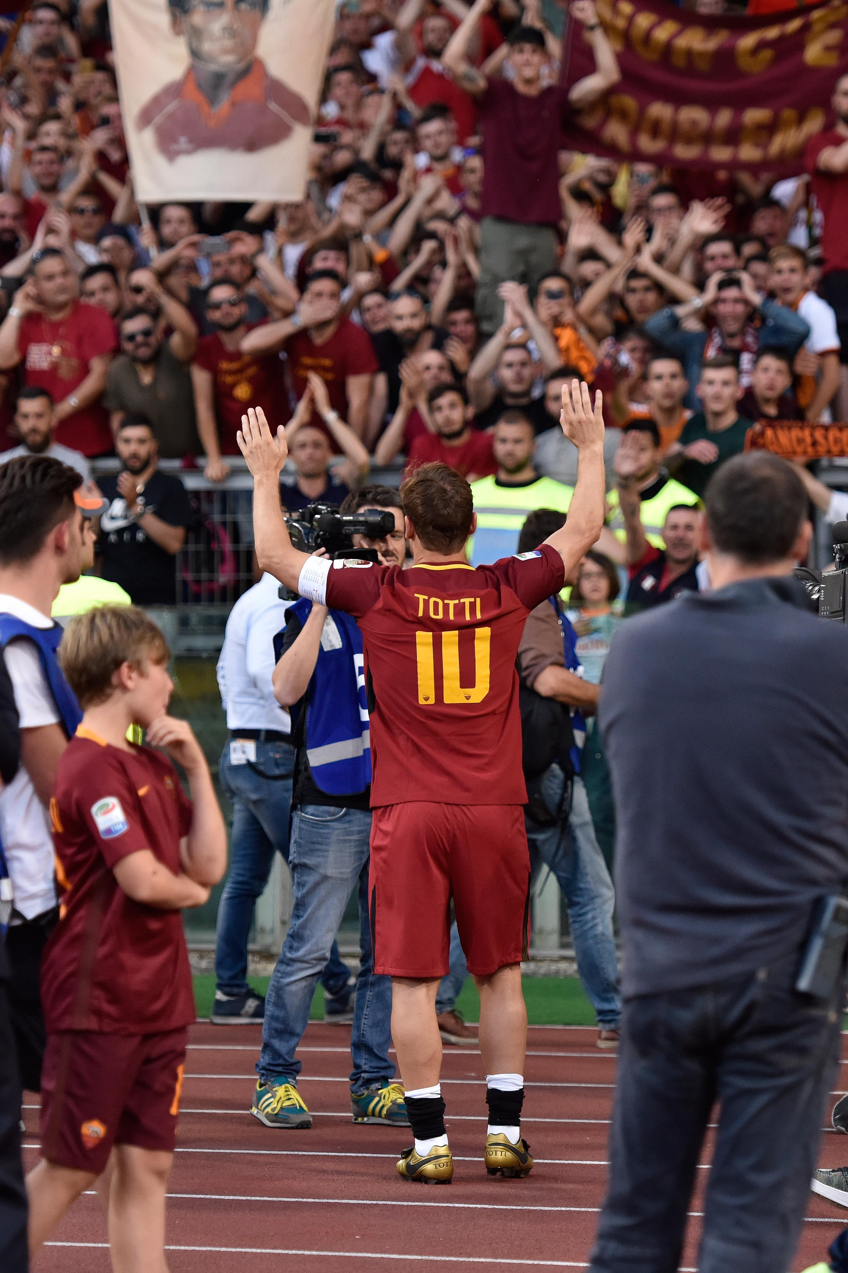 Francesco Totti retired at the end of last season to incredible fanfare at the Stadio Olimpico