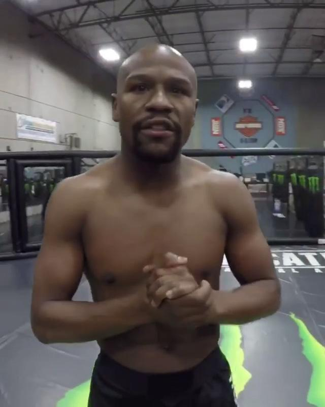 Floyd Mayweather has teased the prospect of fighting inside the octagon with videos on Instagram