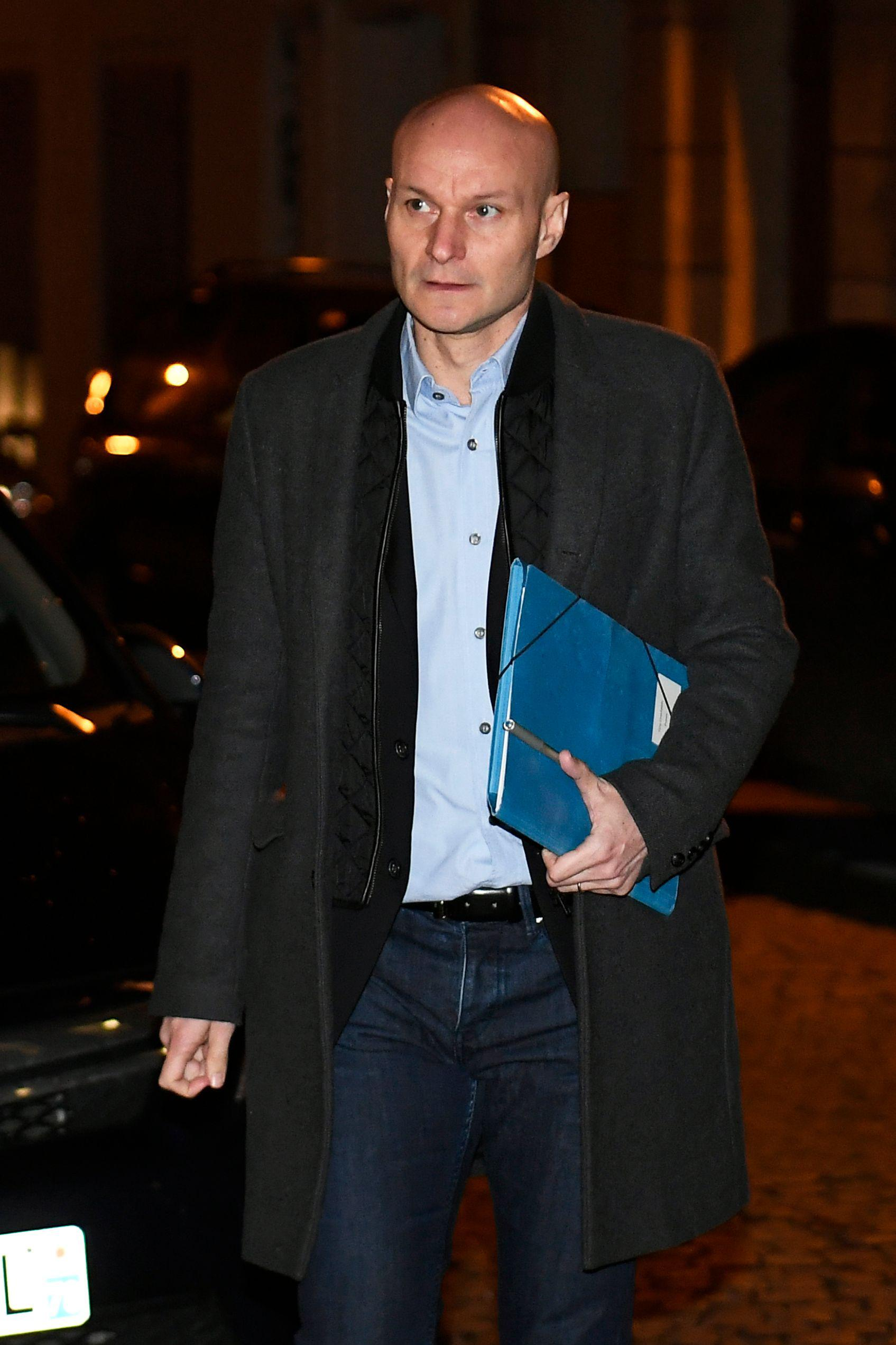 Tony Chapron arrives to appear before French football authorities