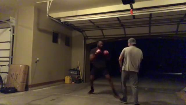Jon Jones has the gloves back on and has been training in America