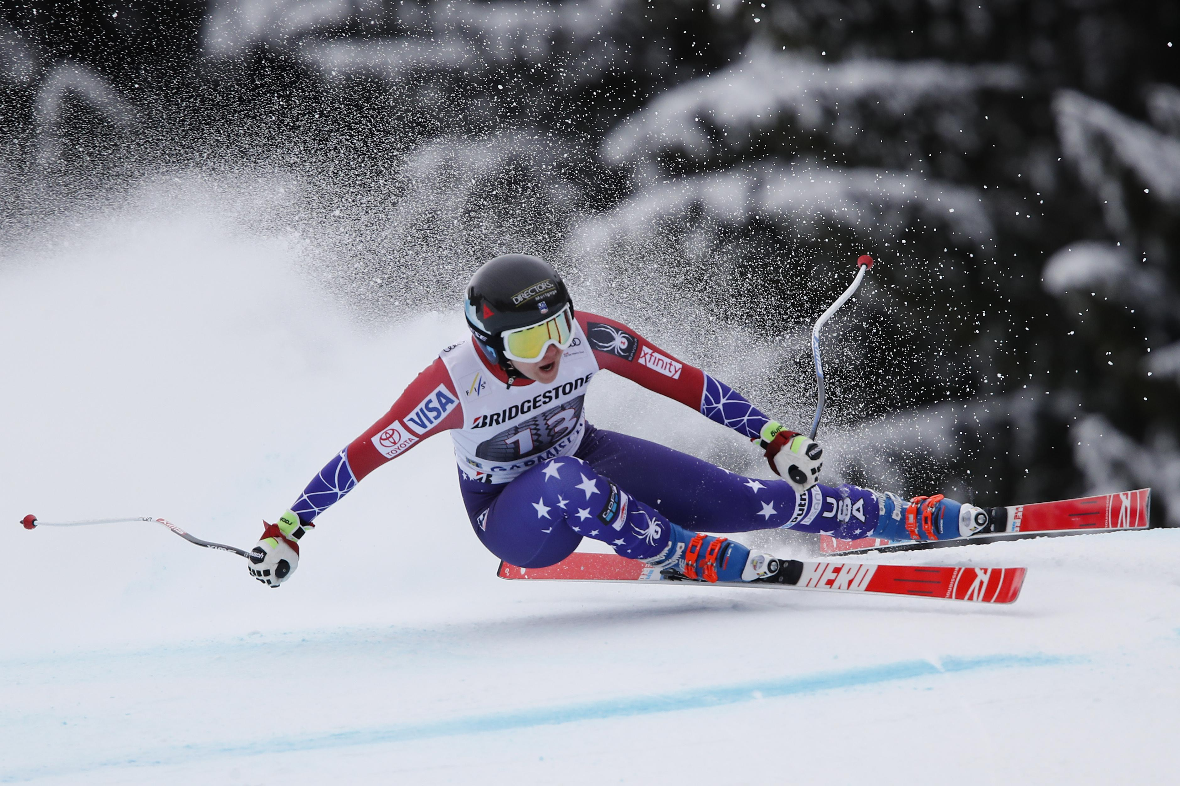 The American skier was looking good down the slopes before the horror crash