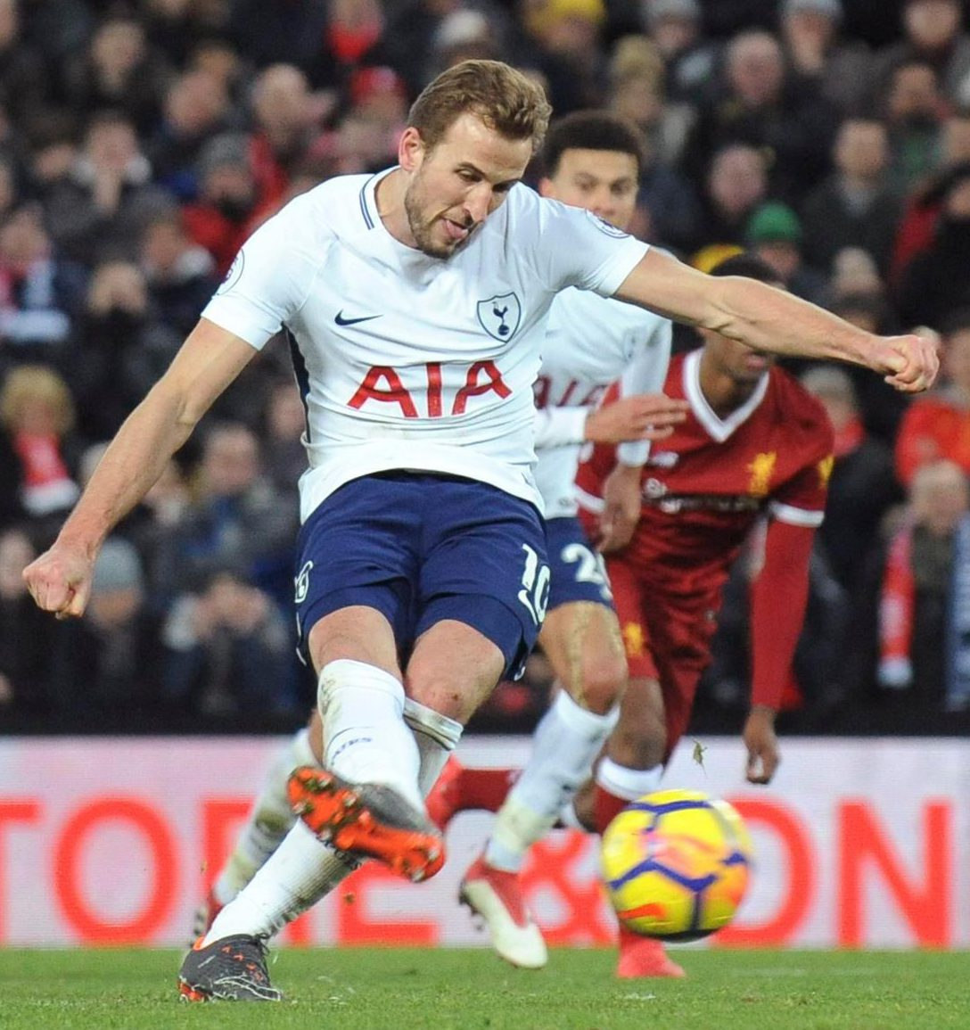 Amid all the drama at Anfield Kane stepped up and scored the equalising penalty after missing one earlier