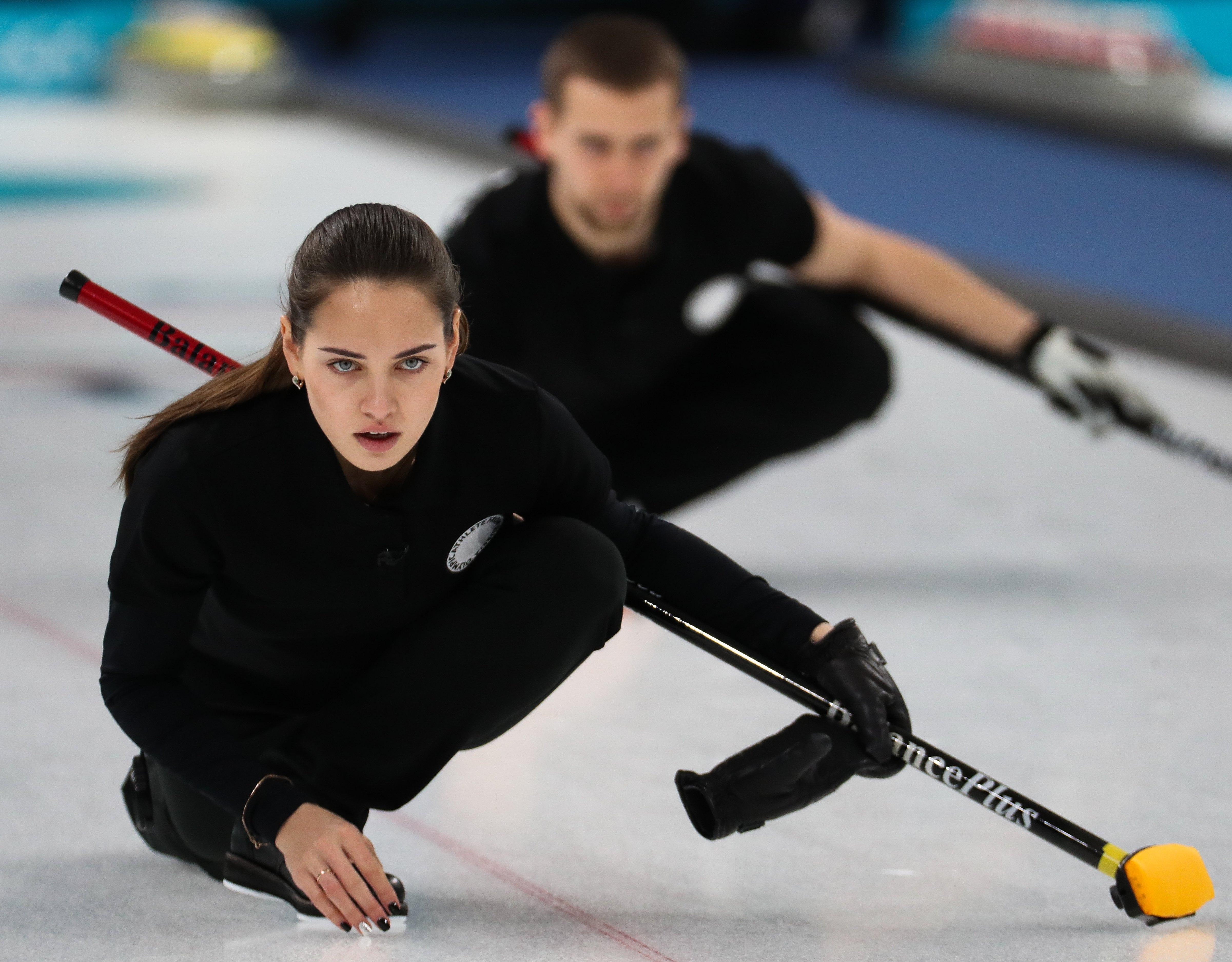 Fans have been going wild for a Russian curler at the Winter Olympics