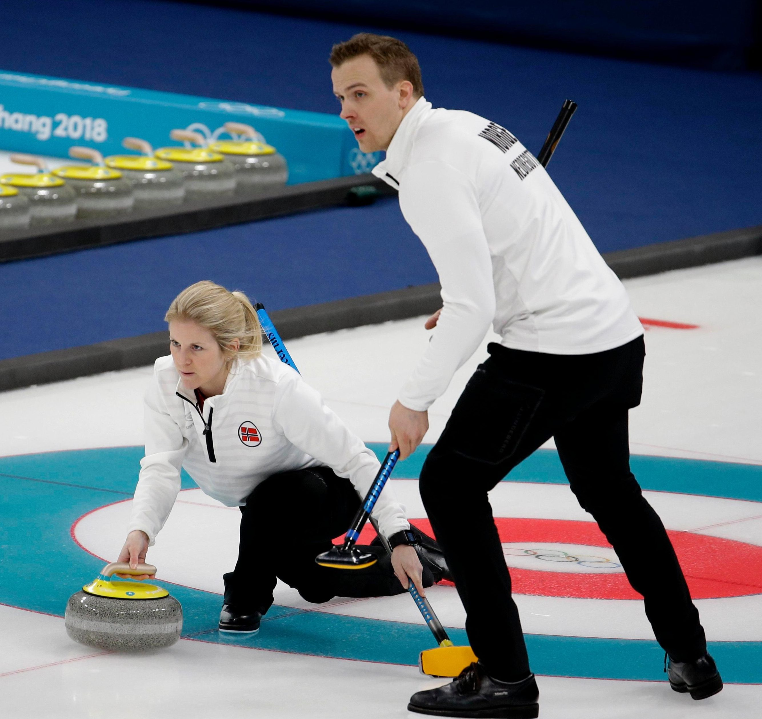 Norway's Kristin Skaslien and Magnus Nedregotten will take third place instead