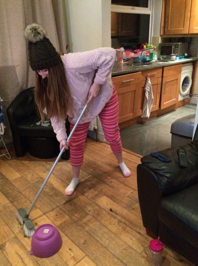 This Bournemouth University student shows the budget way to play curling