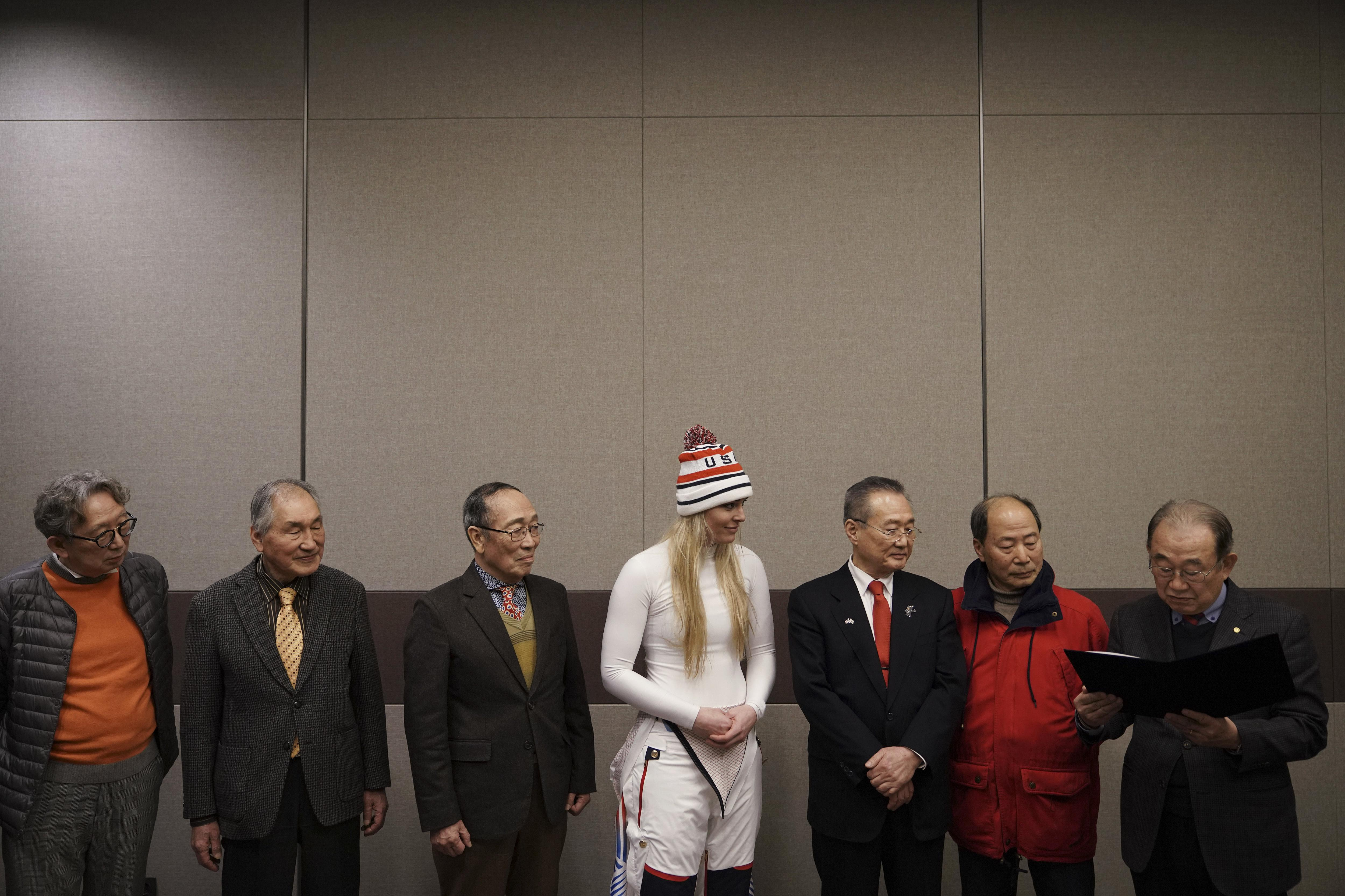 Lindsey Vonn scattered some of her grandad's ashes in South Korea