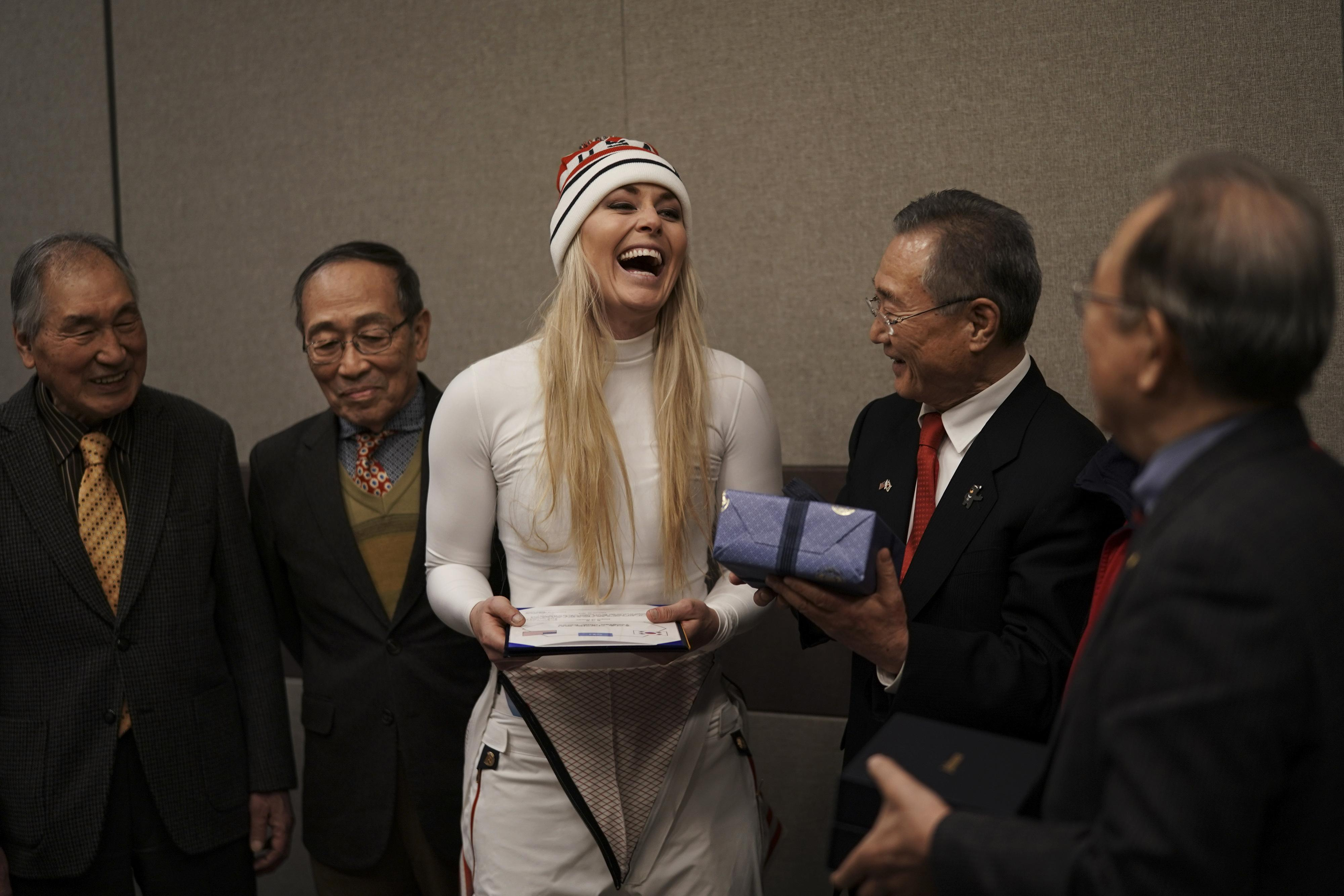 Lindsey Vonn's grandfather was part of the American army that defended South Korea