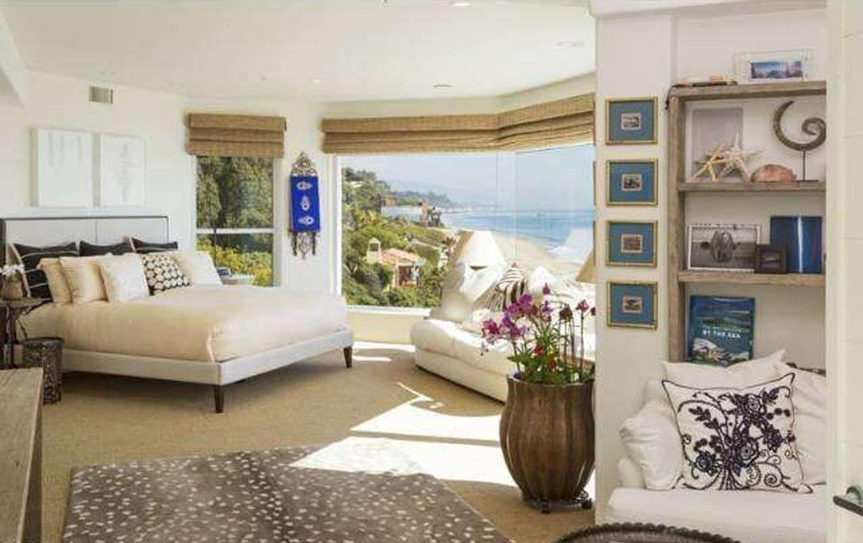 All four bedrooms have an incredible view of the Malibu coast and beach