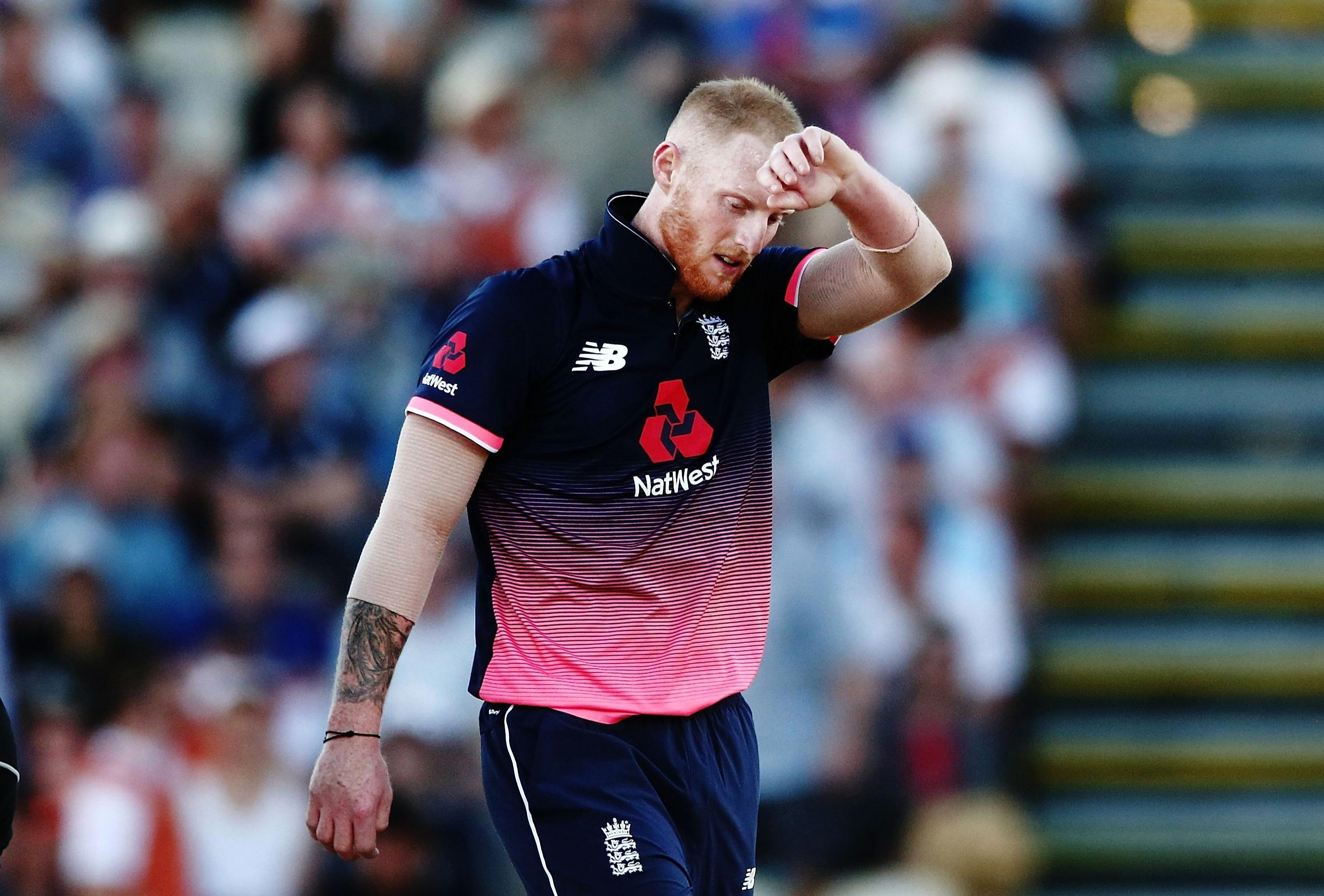 Ben Stokes was caught out for 12 on his return to England side in New Zealand