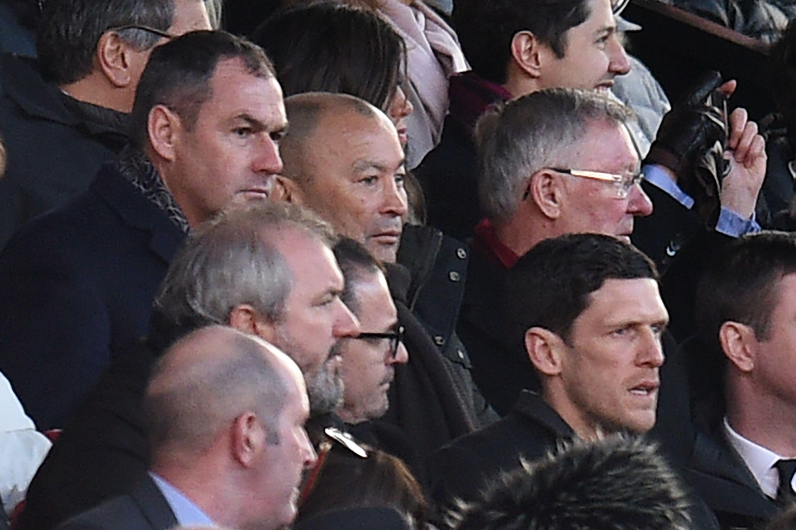 Jones then went to watch Manchester United's 2-1 win over Chelsea at Old Trafford
