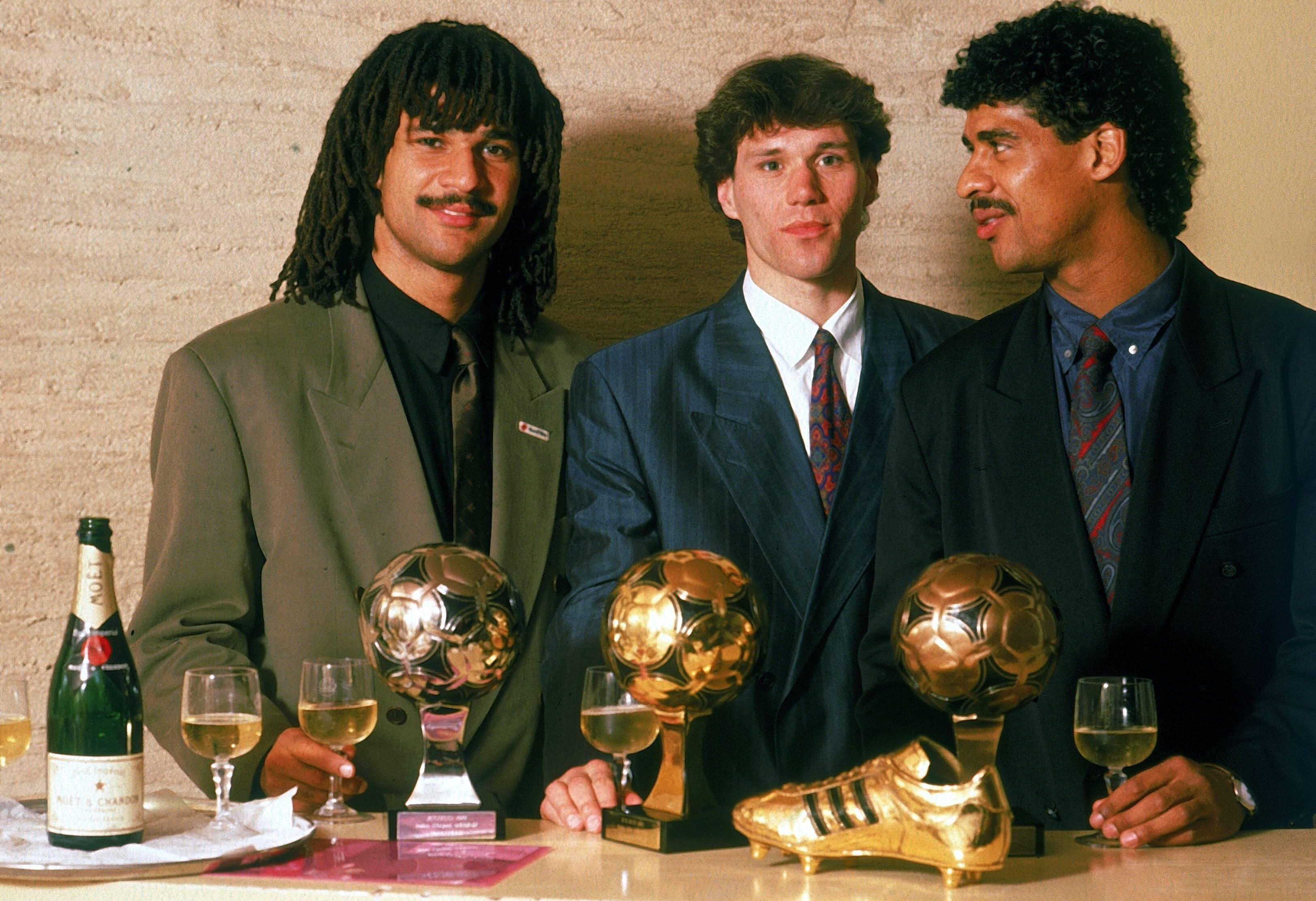 Gullit - with former AC Milan team-mates Marco van Basten and Frank Rijkaard - won the Ballon d'Or in 1987 and came second in 1988