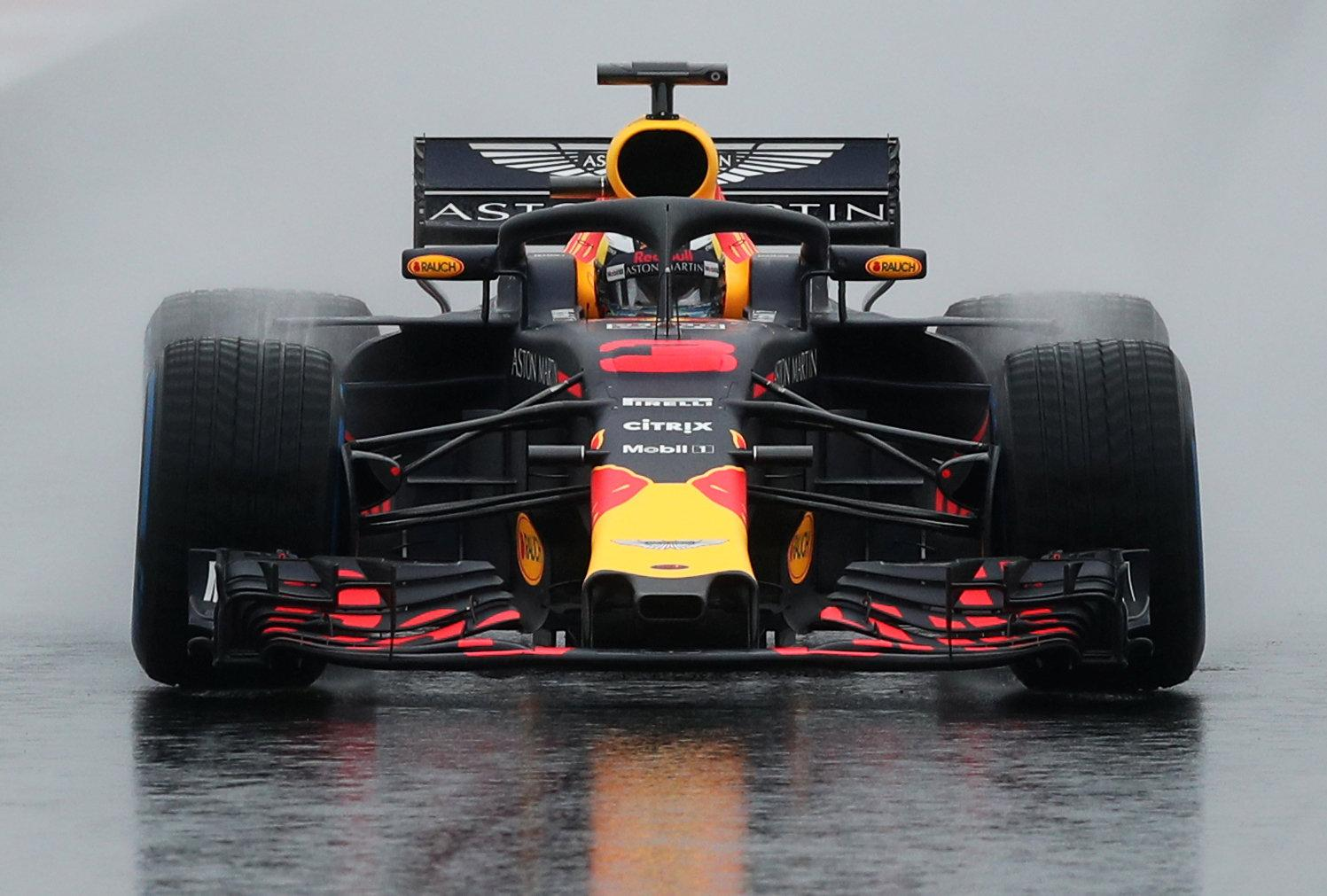 Daniel Ricciardo managed to test the tyres in the brutal conditions in Barcelona