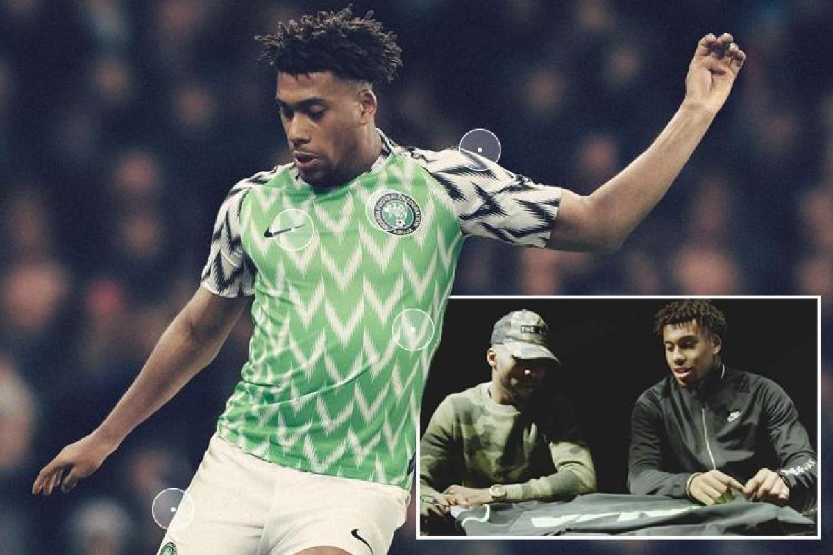 Arsenal star Alex Iwobi shows off Nigeria s new World Cup home kit... and  fans love it c2fb72405