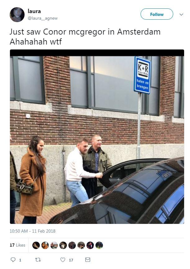 His supporters also spotted him out and about in the Dutch capital