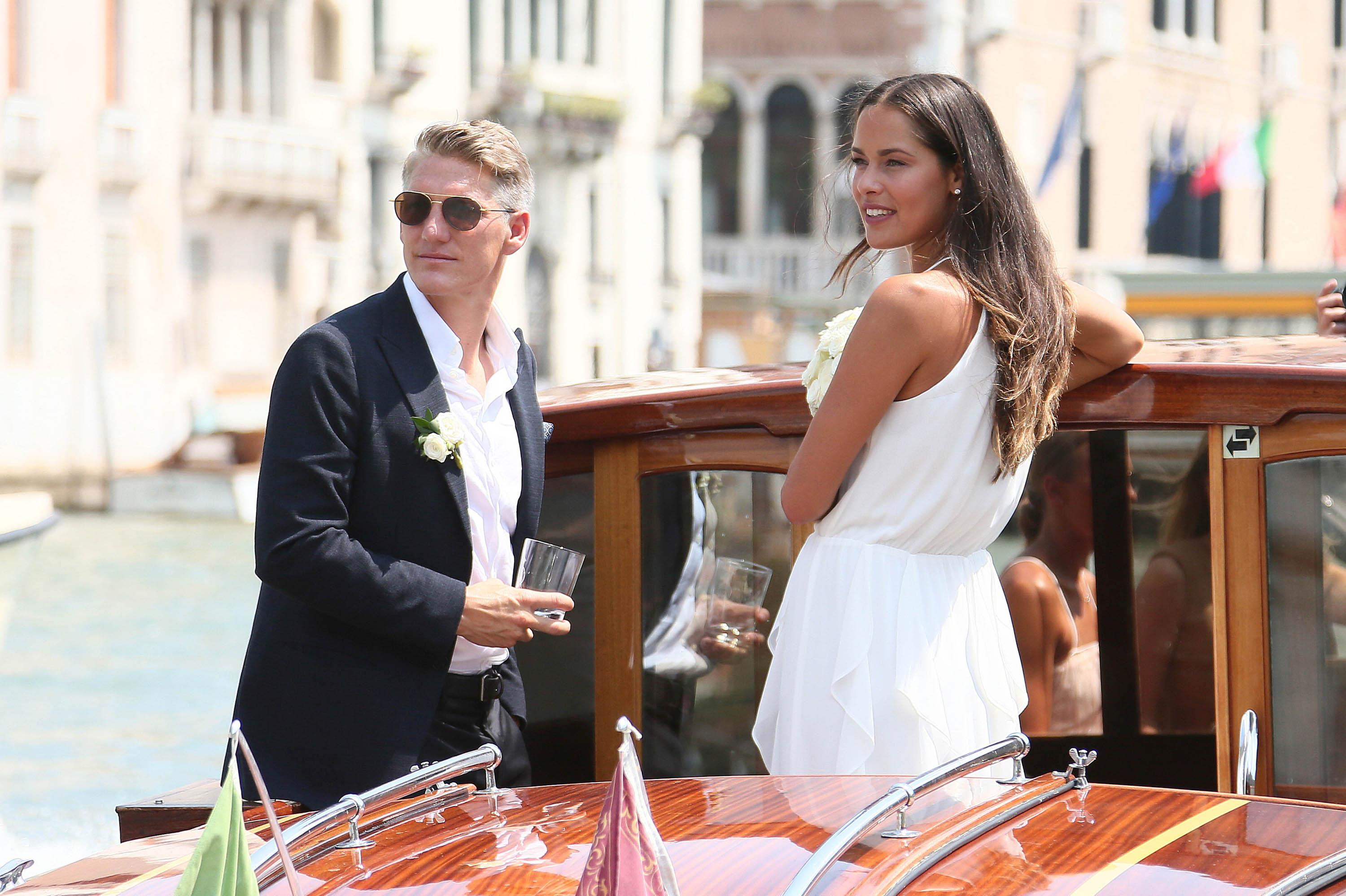 Schweinsteiger and Ivanovic got married in Venice in a stunning ceremony in 2016
