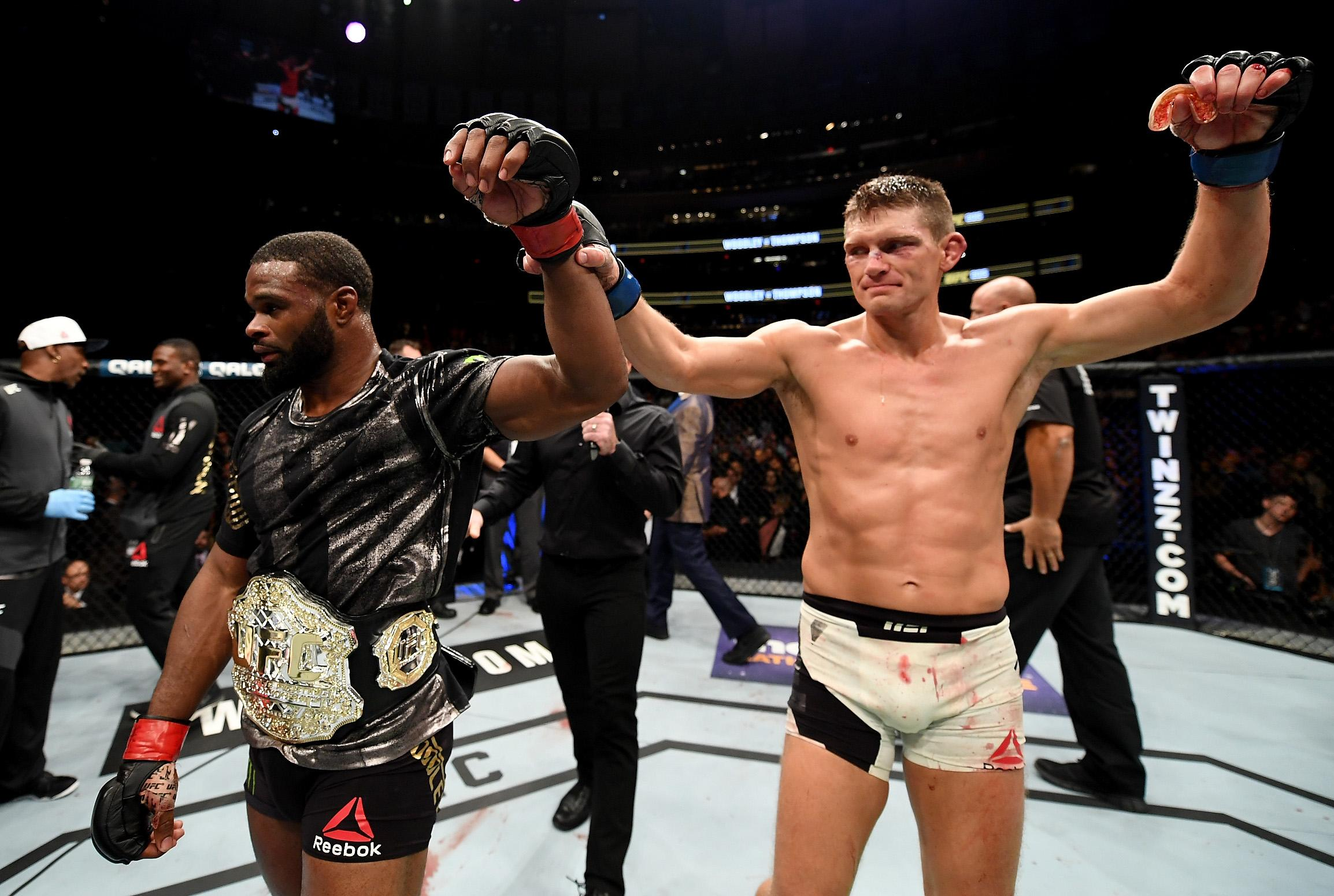 The 35-year-old drew with Woodley at UFC 205, before losing a points decision at UFC 209