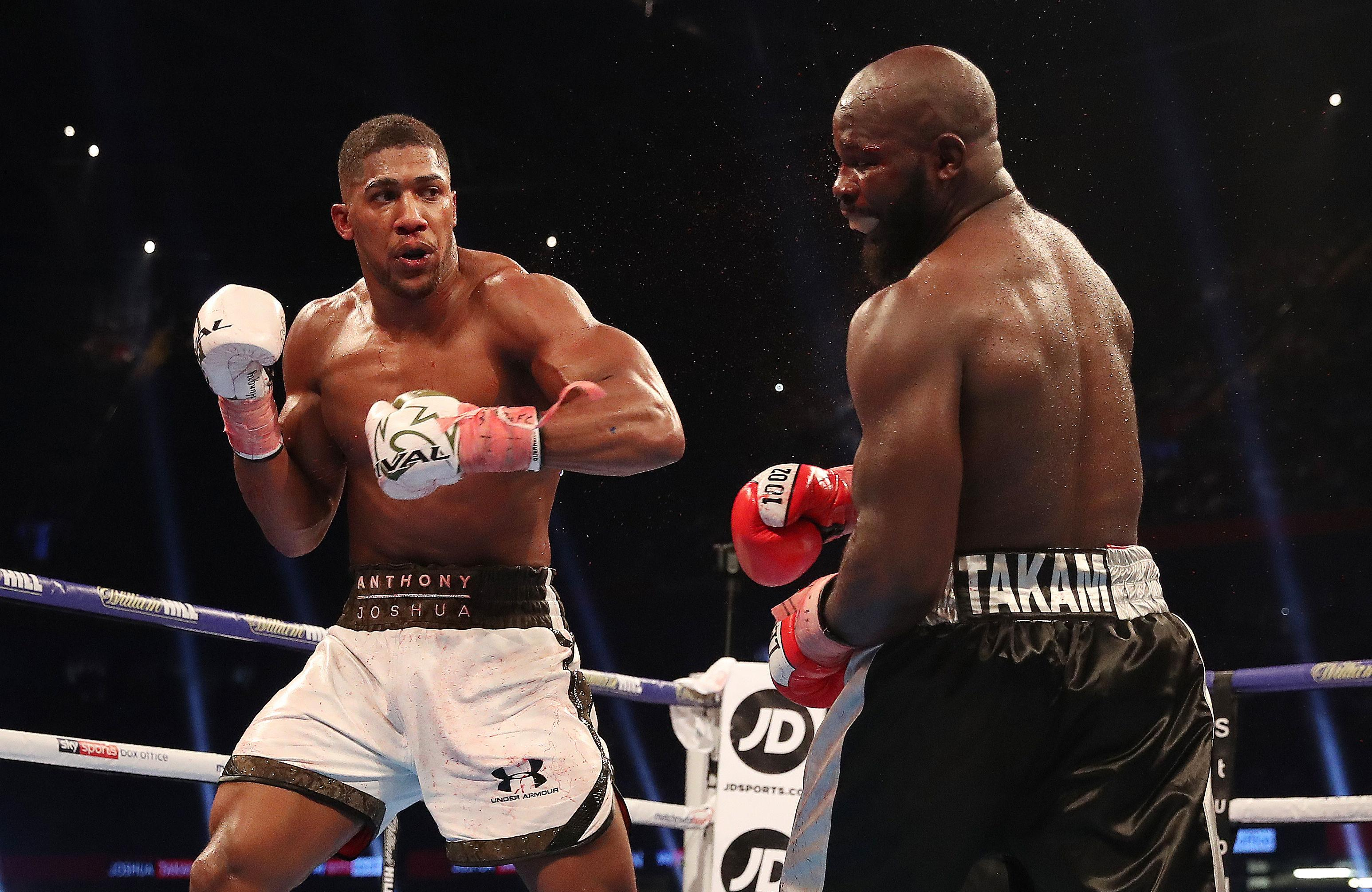 The Englishman defeated Carlos Takam to retain his titles at the Principality Stadium in October