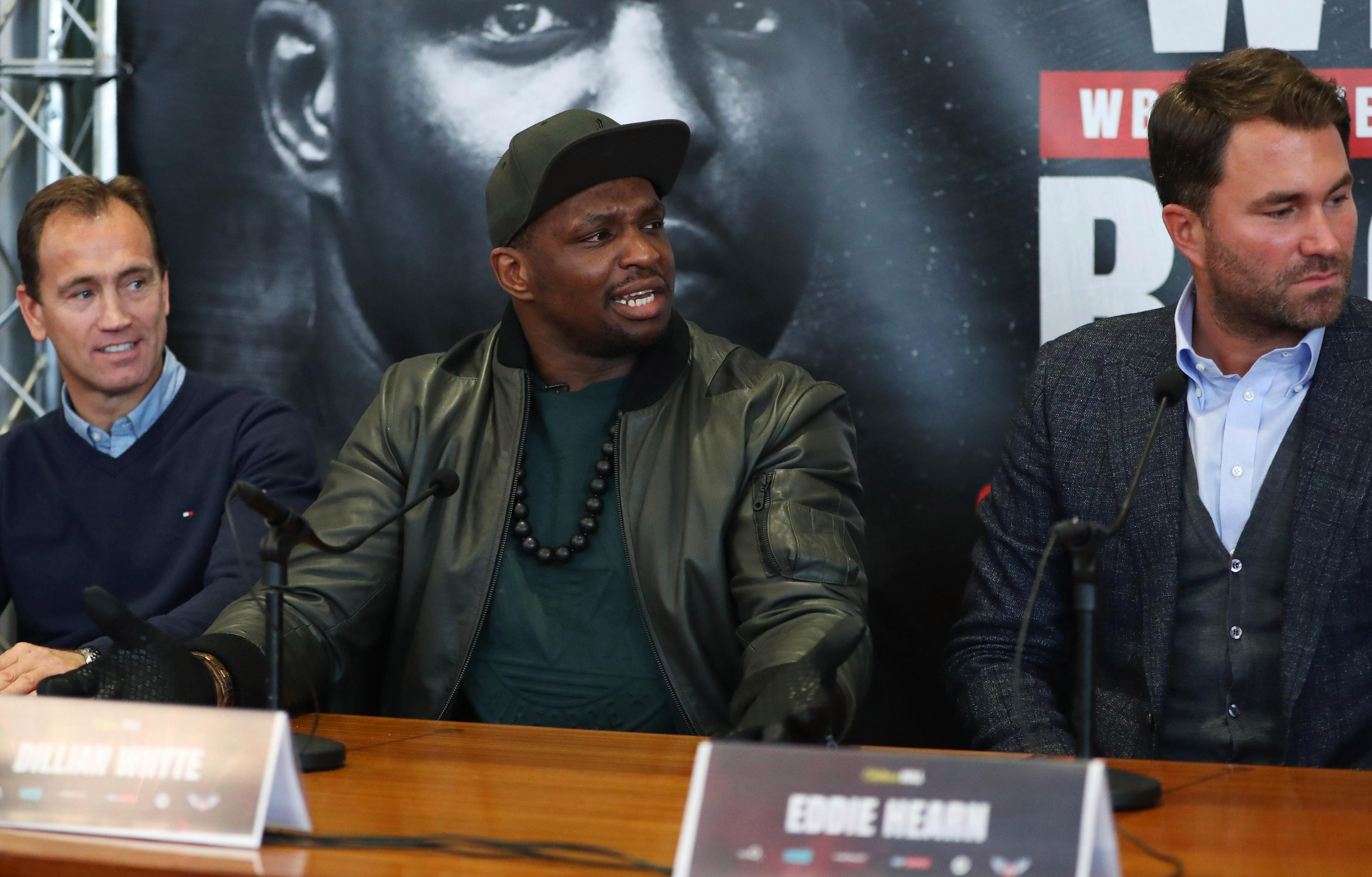 Dillian Whyte says his mum comes to watch his fights while his dad is a bit scary