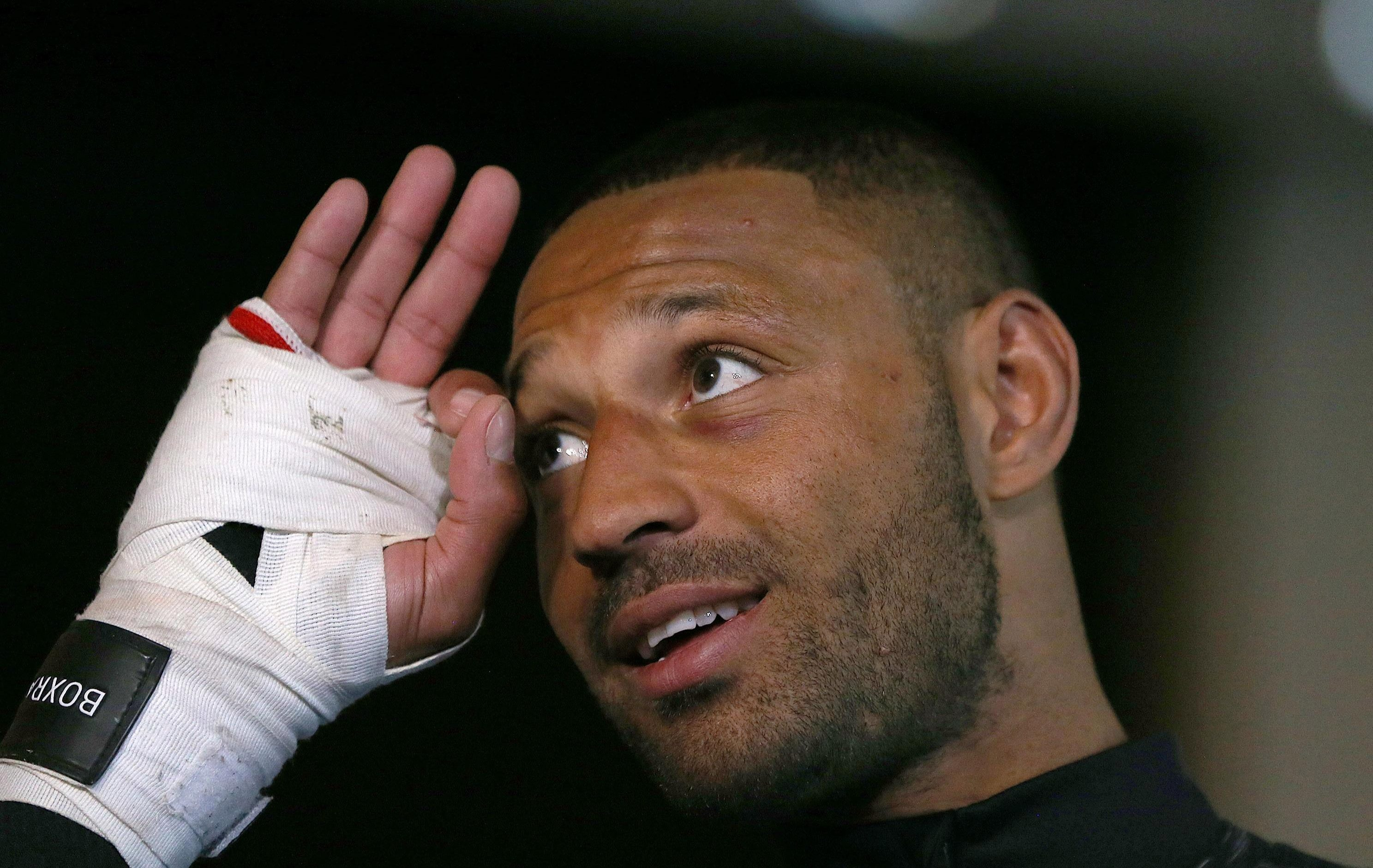 Kell Brook has suffered an ankle injury
