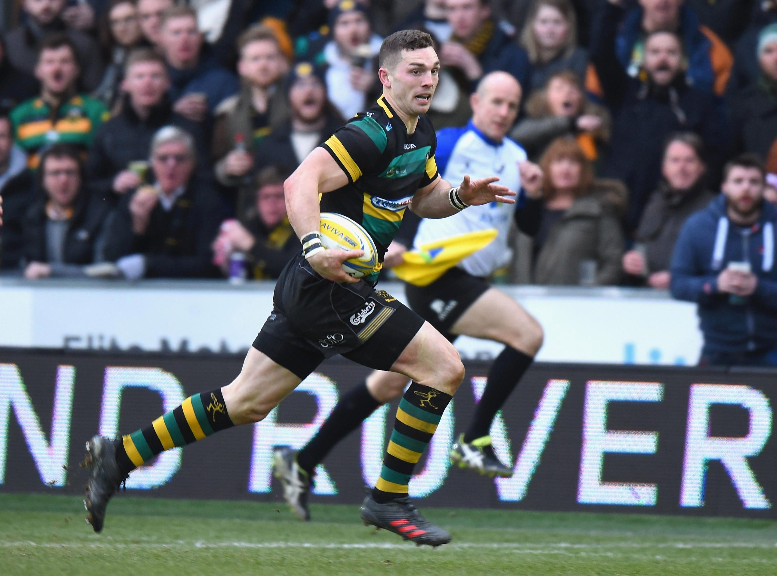 George North has played for Northampton since moving from the Scarlets in 2013