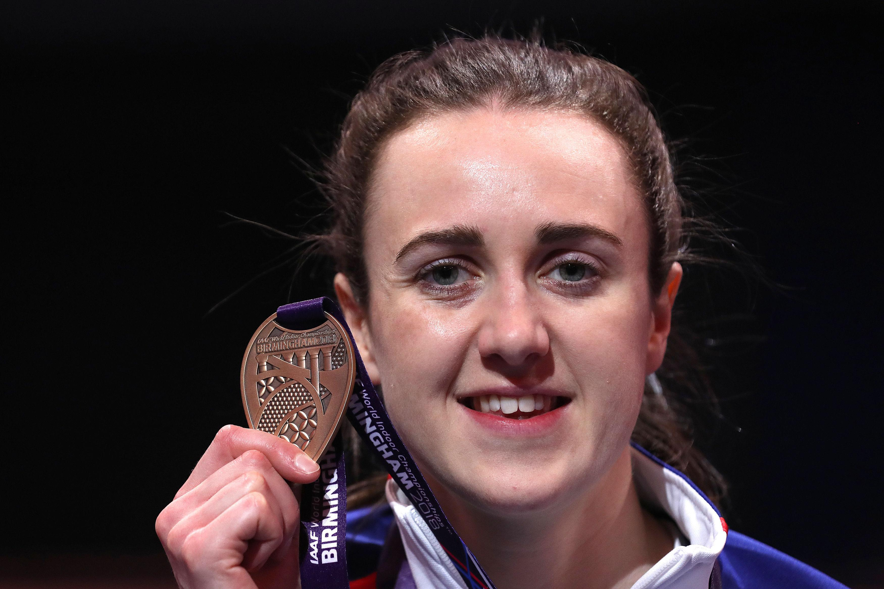 Muir took the bronze in Birmingham at the World Indoor Championships