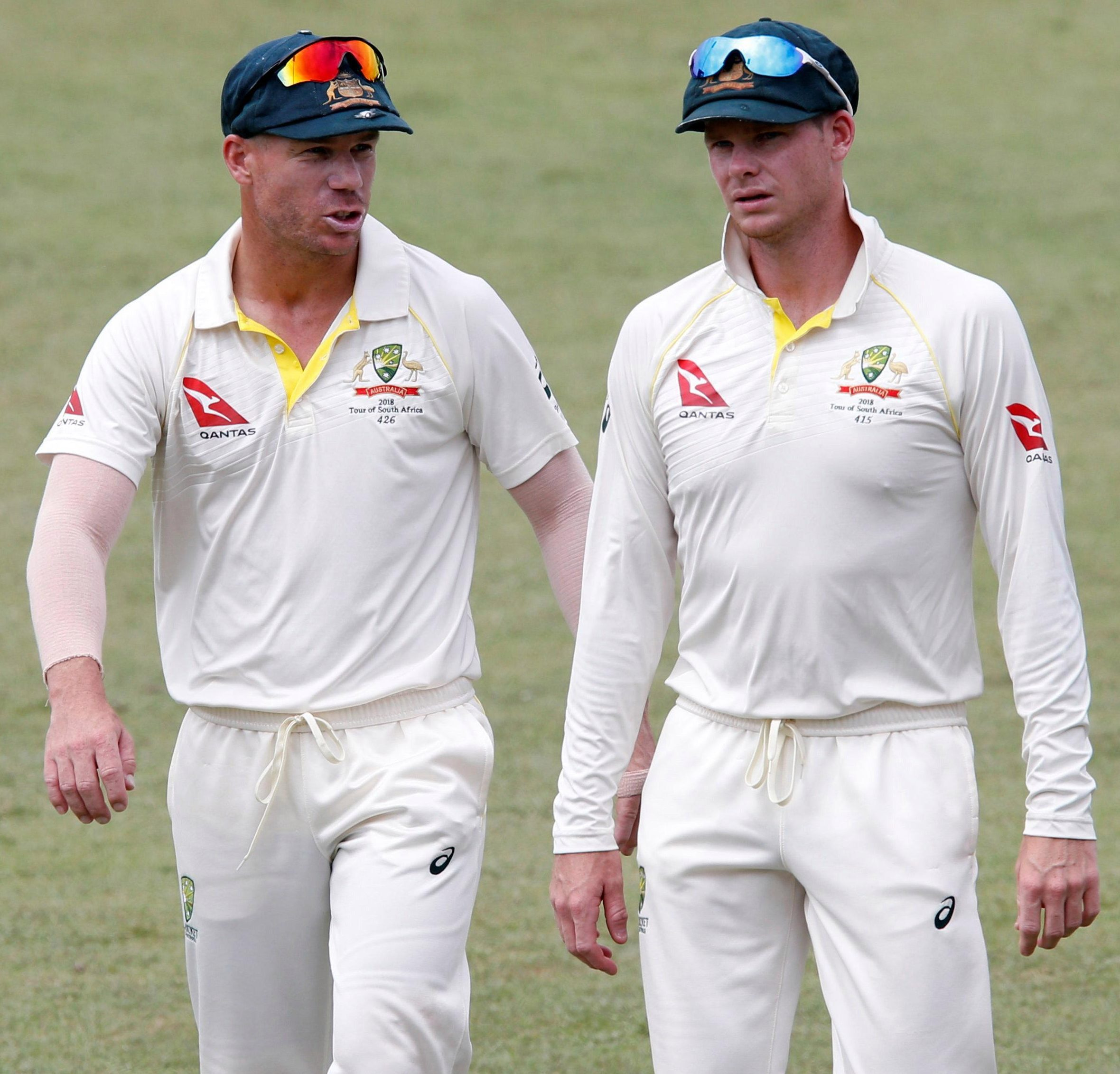 Earlier, Warner and Smith left the field together