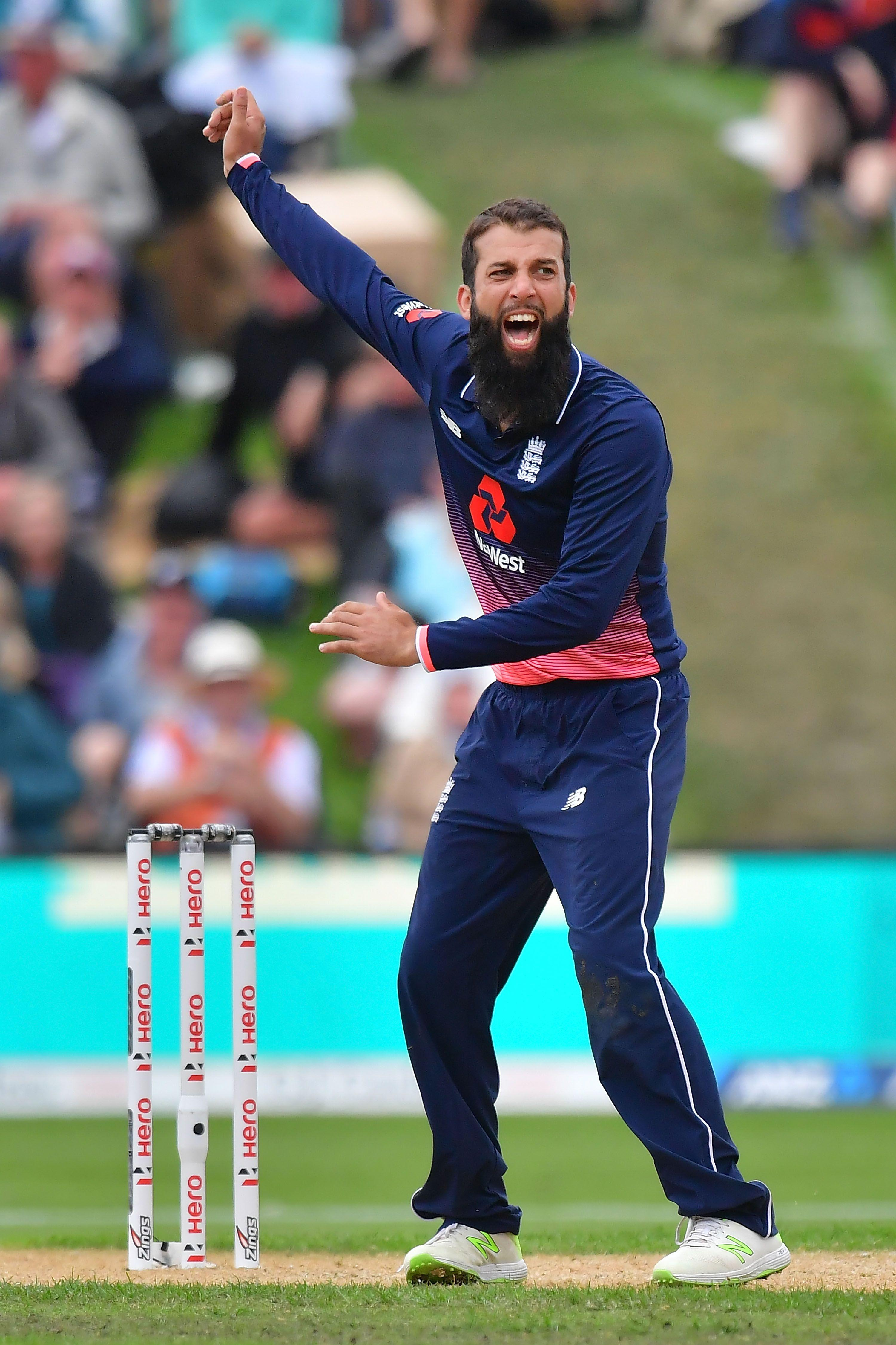 England's off-spinning all-rounder is restricted by a painful shoulder
