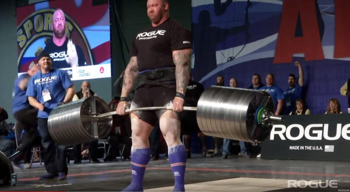 Bjornsson simply nodded his head after lifting 1,041lbs